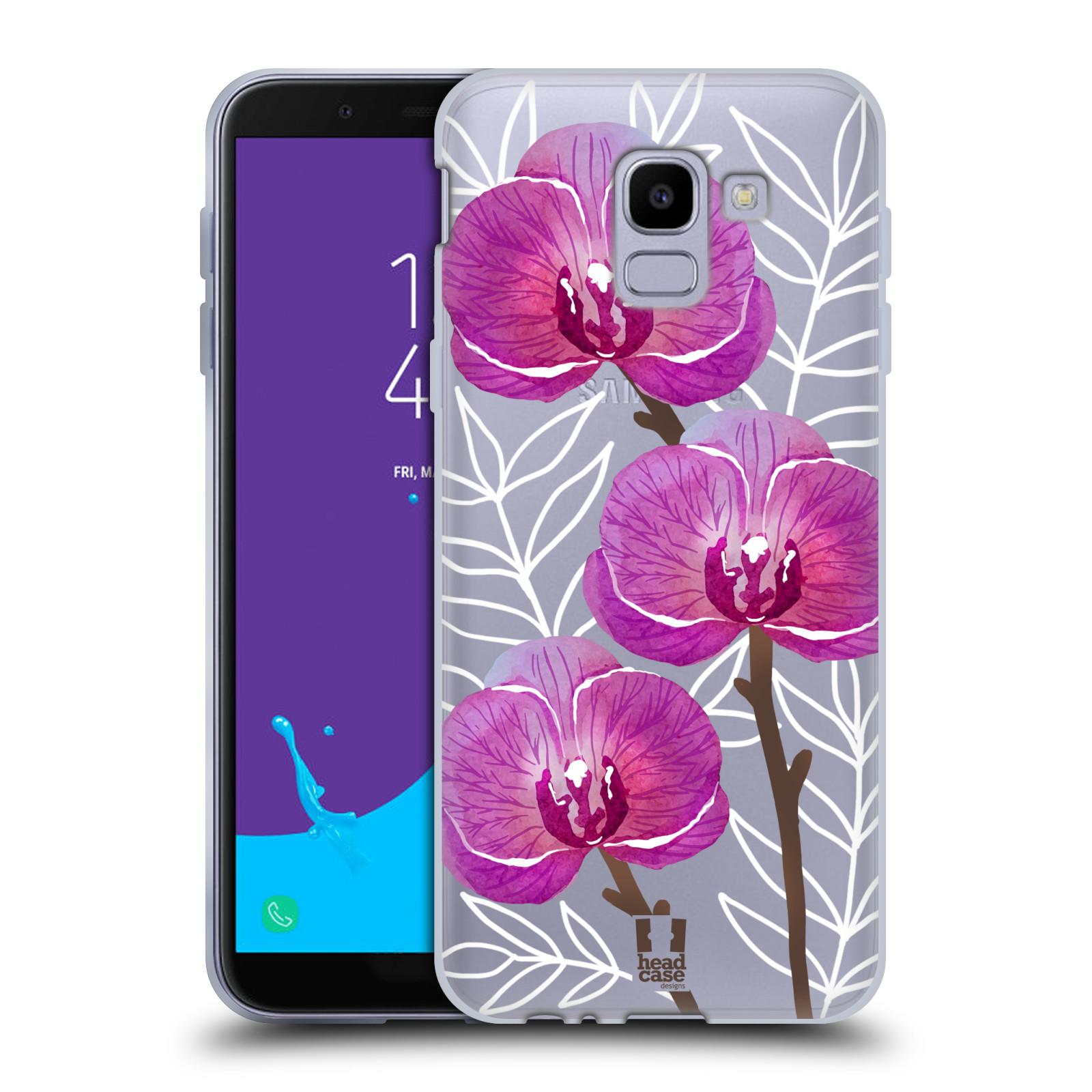 Silikonové pouzdro na mobil Samsung Galaxy J6 (2018) - Head Case - Hezoučké kvítky - průhledné