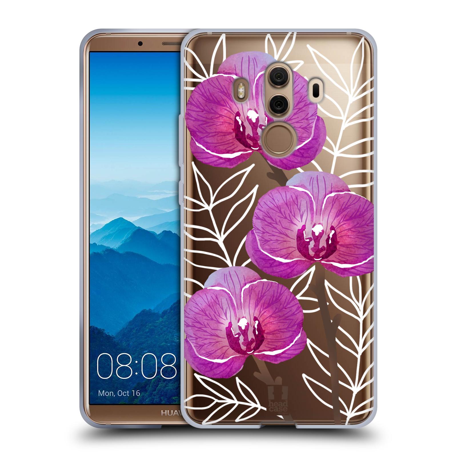 Silikonové pouzdro na mobil Huawei Mate 10 Pro - Head Case - Hezoučké kvítky - průhledné