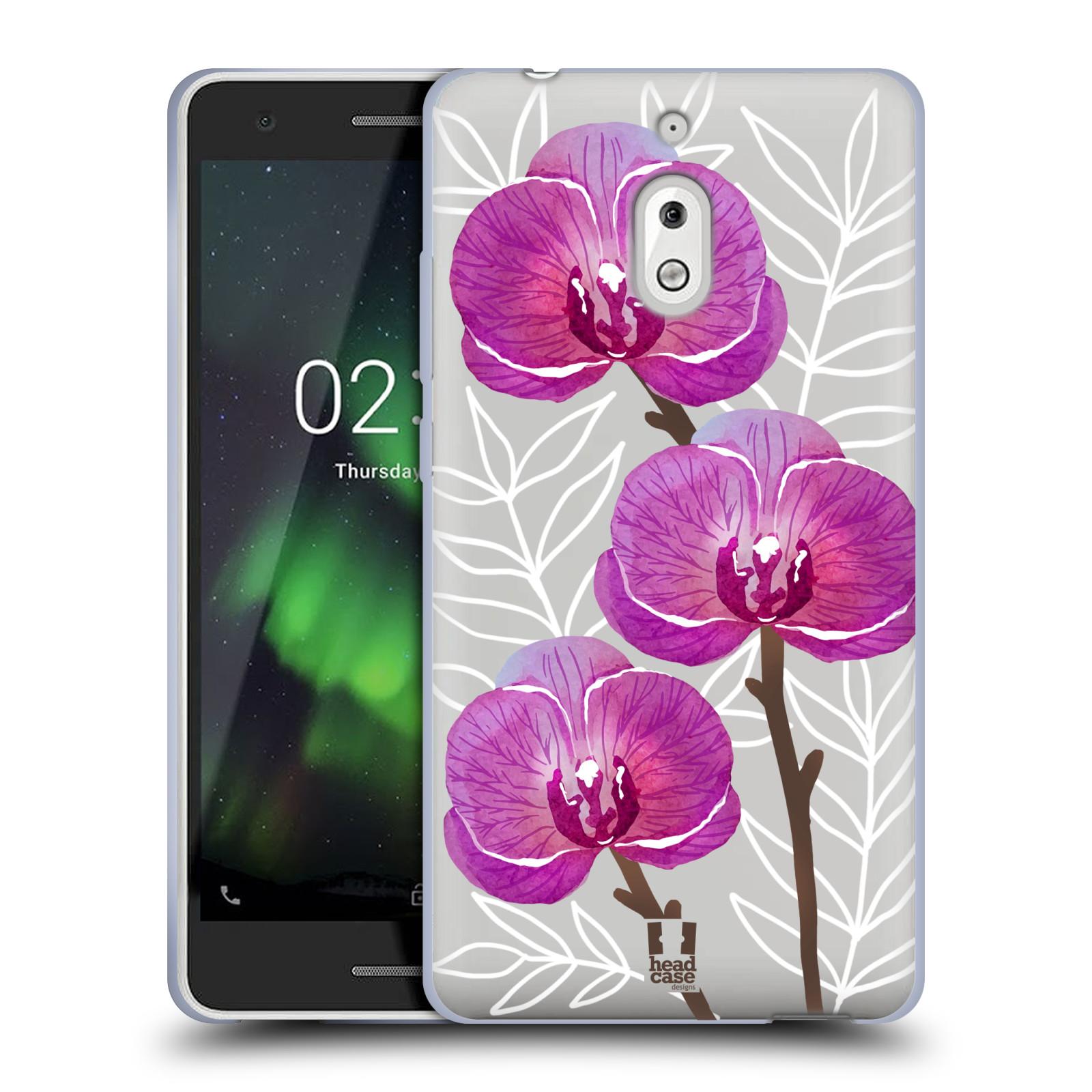 Silikonové pouzdro na mobil Nokia 2.1 - Head Case - Hezoučké kvítky - průhledné