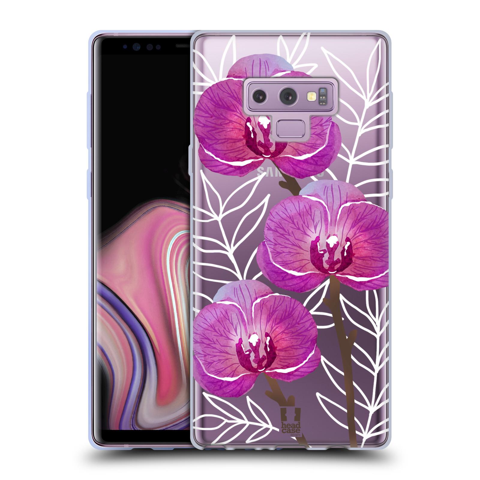 Silikonové pouzdro na mobil Samsung Galaxy Note 9 - Head Case - Hezoučké kvítky - průhledné