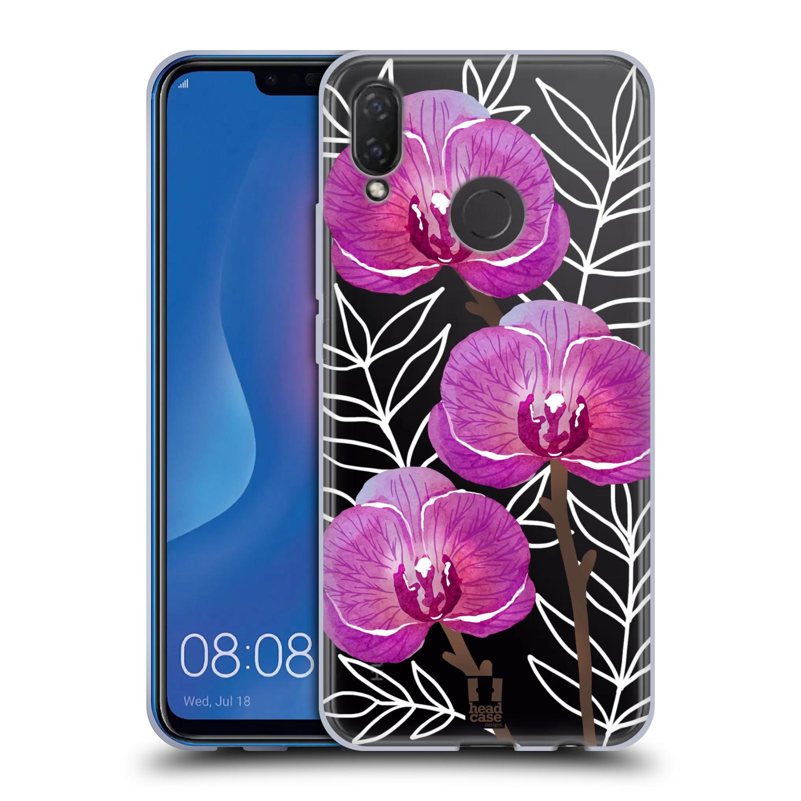 Silikonové pouzdro na mobil Huawei Nova 3i - Head Case - Hezoučké kvítky - průhledné