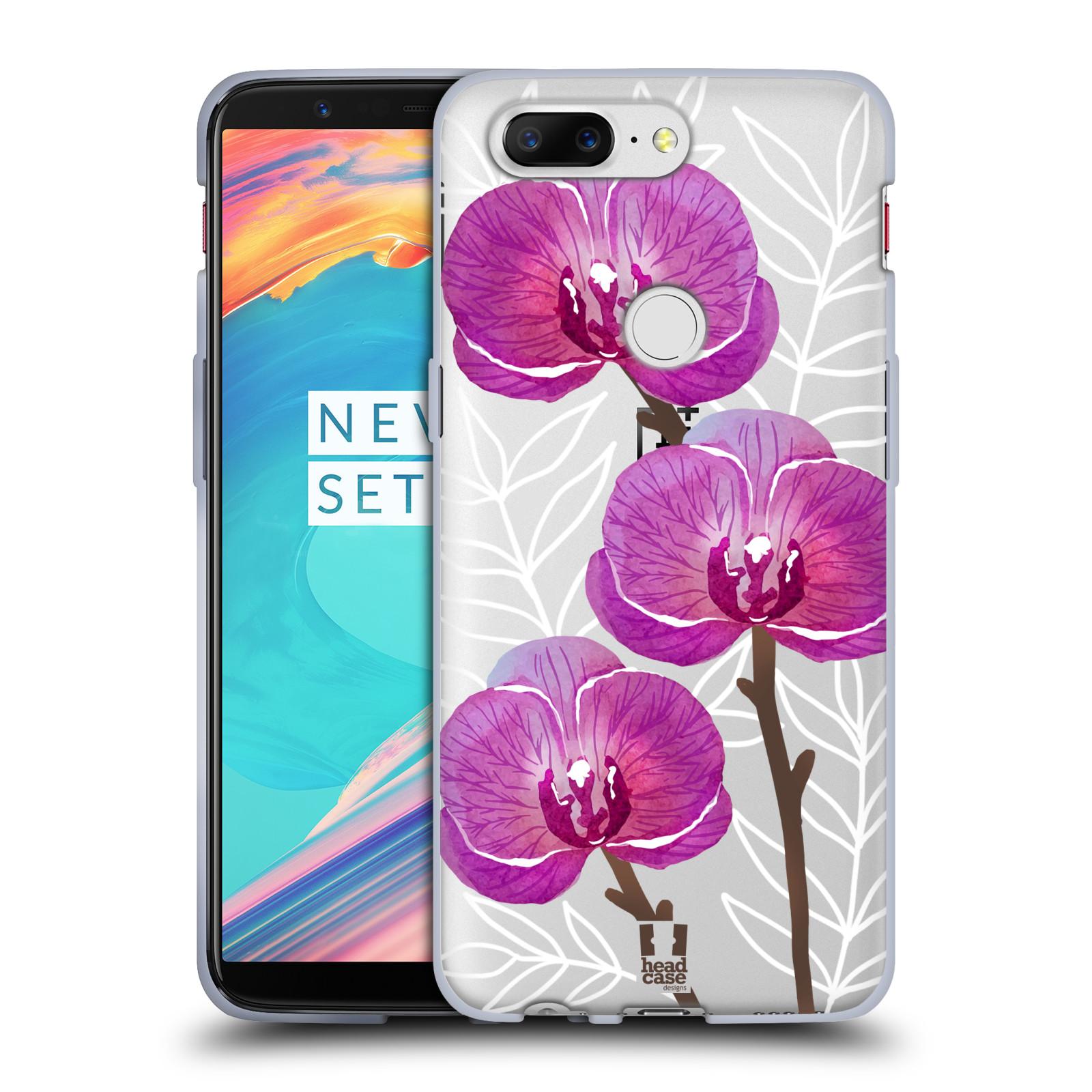 Silikonové pouzdro na mobil OnePlus 5T - Head Case - Hezoučké kvítky - průhledné