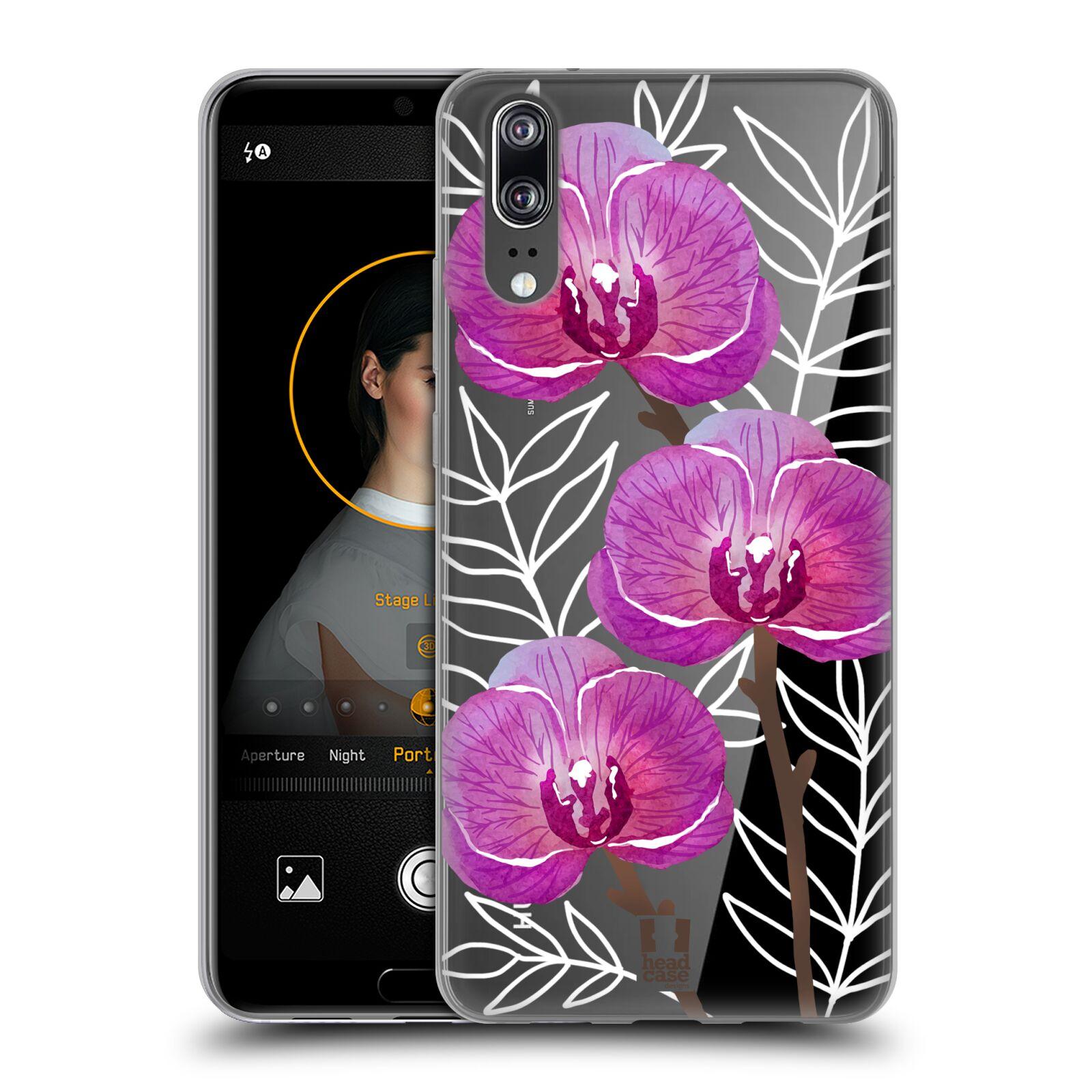 Silikonové pouzdro na mobil Huawei P20 - Head Case - Hezoučké kvítky - průhledné