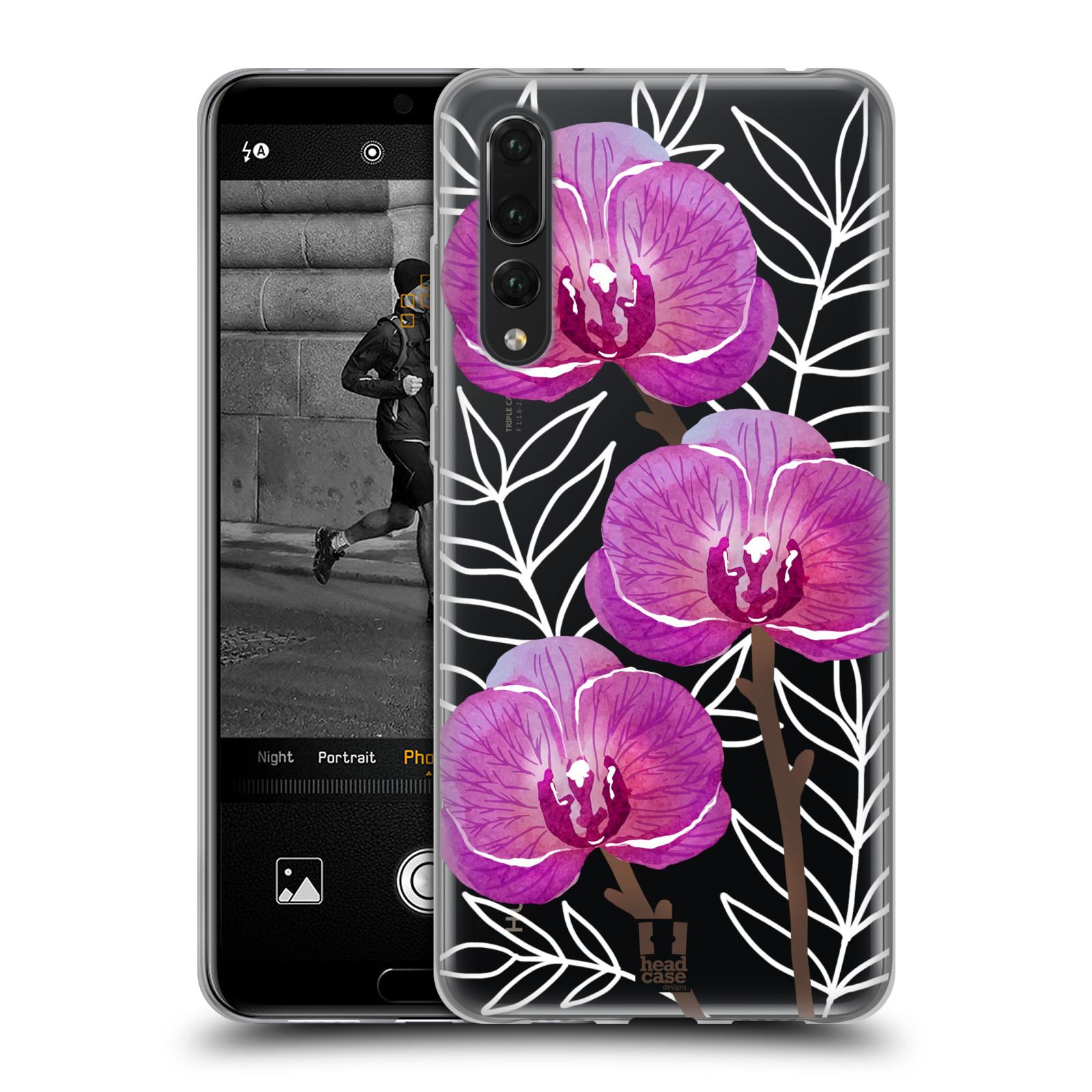 Silikonové pouzdro na mobil Huawei P20 Pro - Head Case - Hezoučké kvítky - průhledné