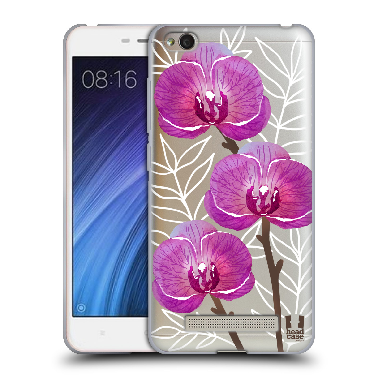 Silikonové pouzdro na mobil Xiaomi Redmi 4A - Head Case - Hezoučké kvítky - průhledné