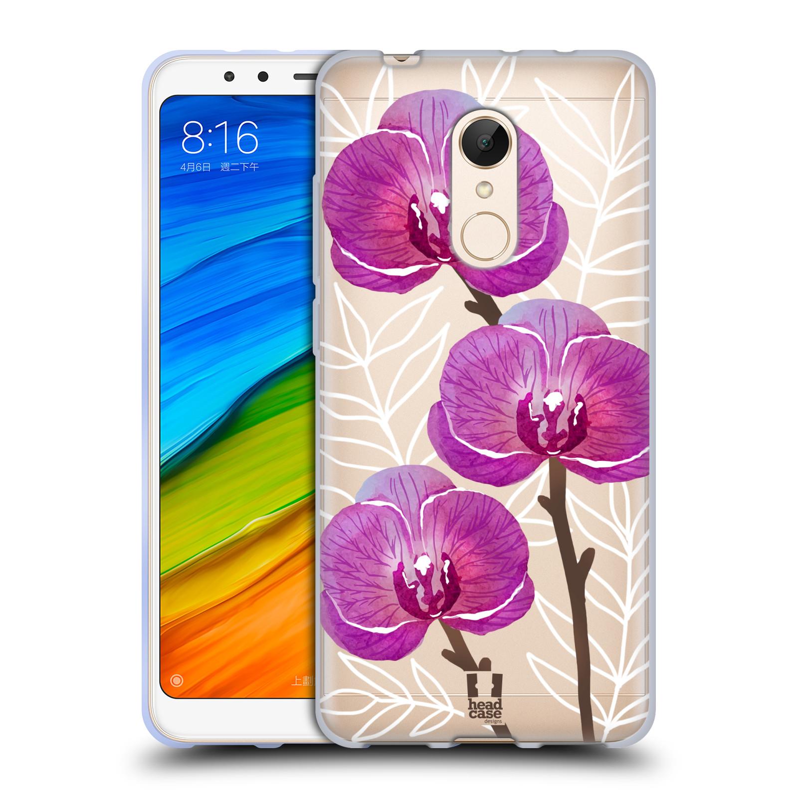 Silikonové pouzdro na mobil Xiaomi Redmi 5 - Head Case - Hezoučké kvítky - průhledné