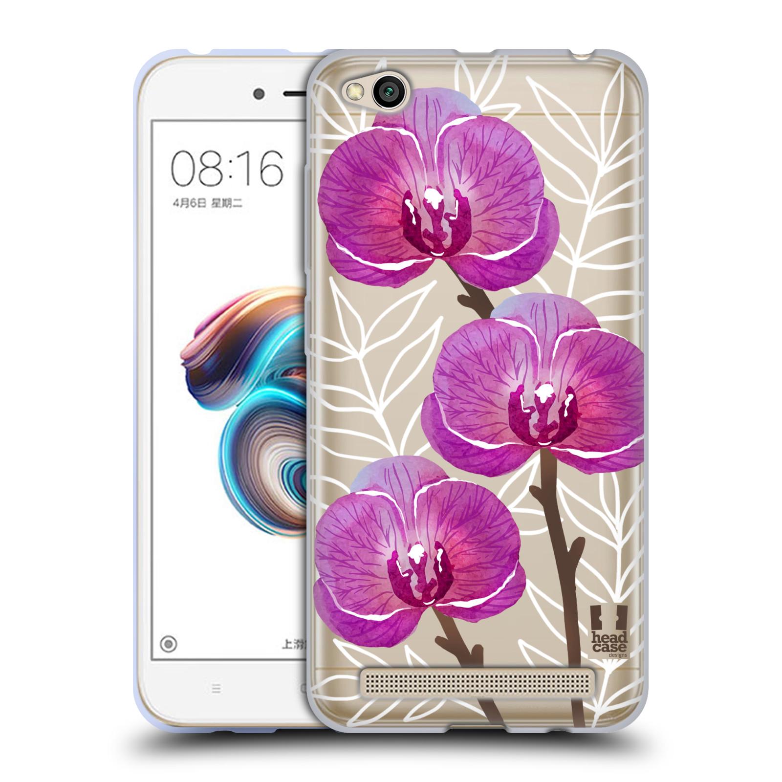 Silikonové pouzdro na mobil Xiaomi Redmi 5A - Head Case - Hezoučké kvítky - průhledné