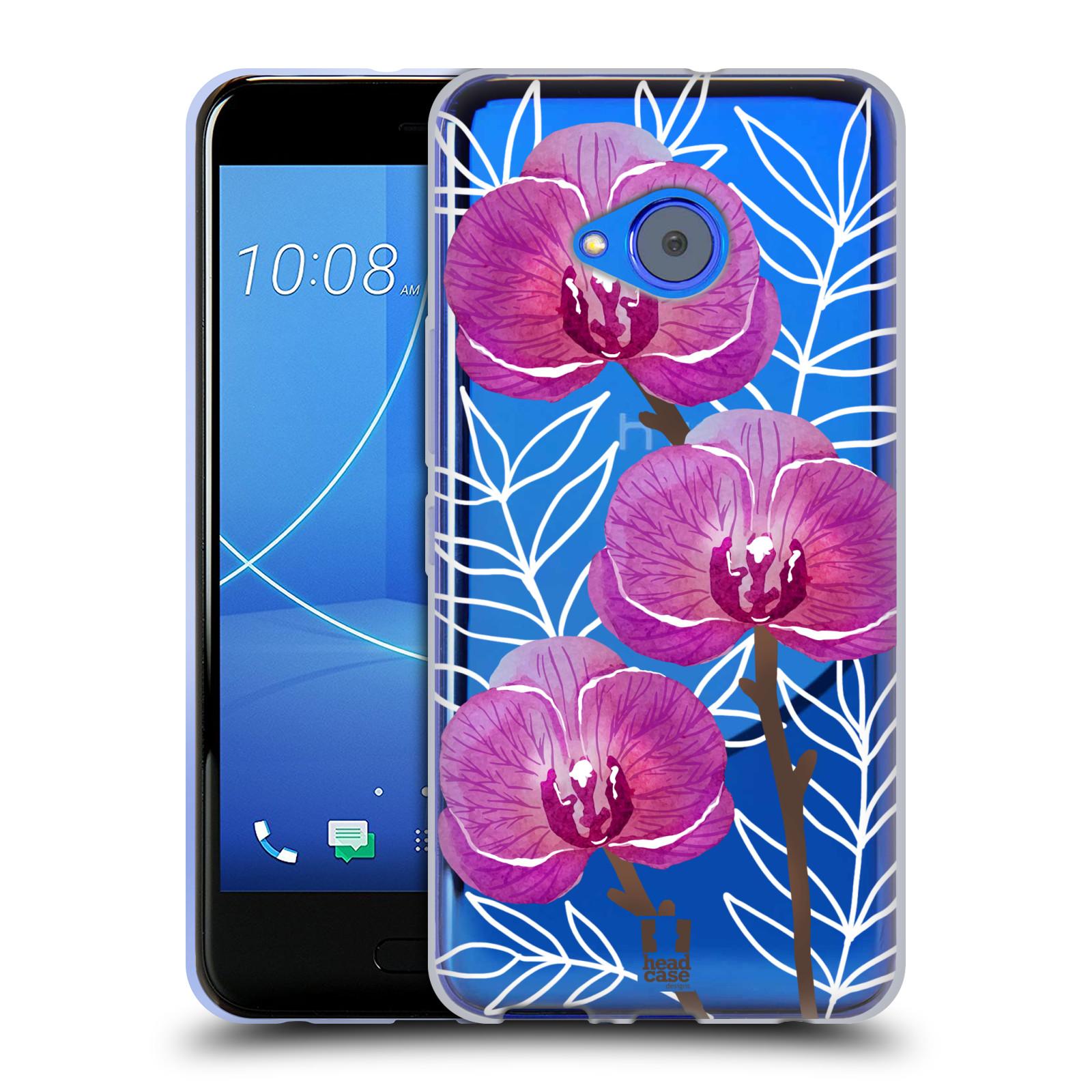 Silikonové pouzdro na mobil HTC U11 Life - Head Case - Hezoučké kvítky - průhledné