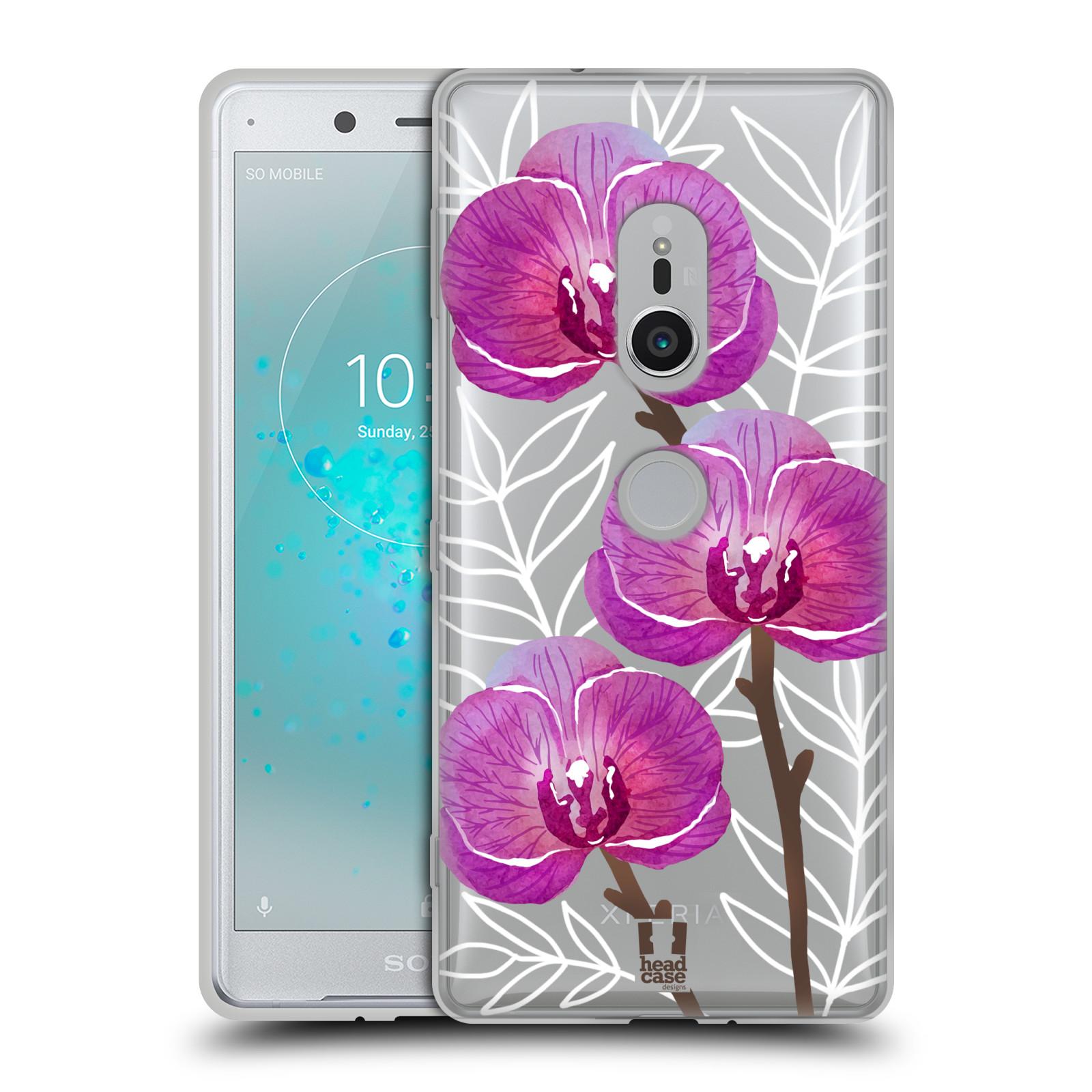 Silikonové pouzdro na mobil Sony Xperia XZ2 - Head Case - Hezoučké kvítky - průhledné