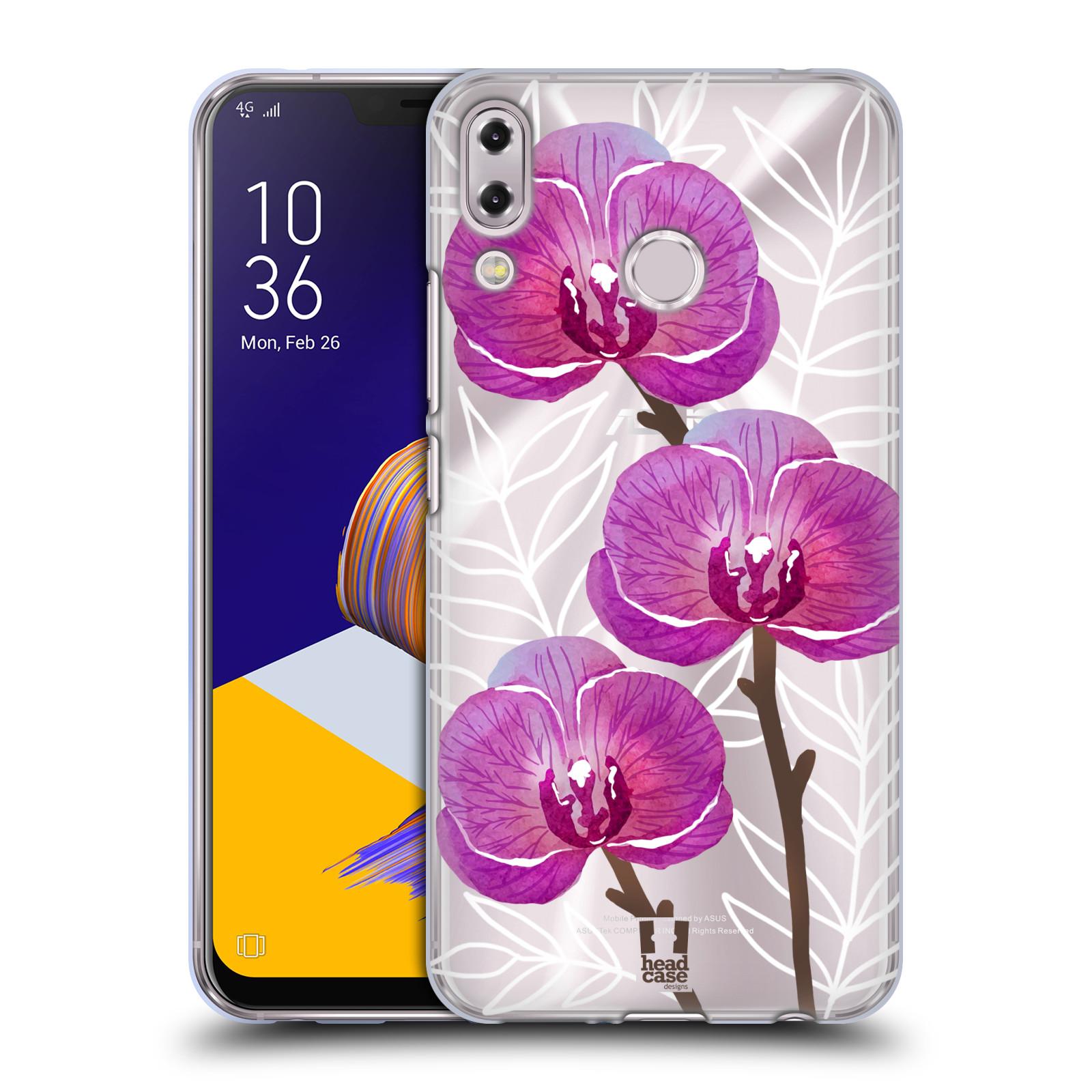 Silikonové pouzdro na mobil Asus Zenfone 5z ZS620KL - Head Case - Hezoučké kvítky - průhledné