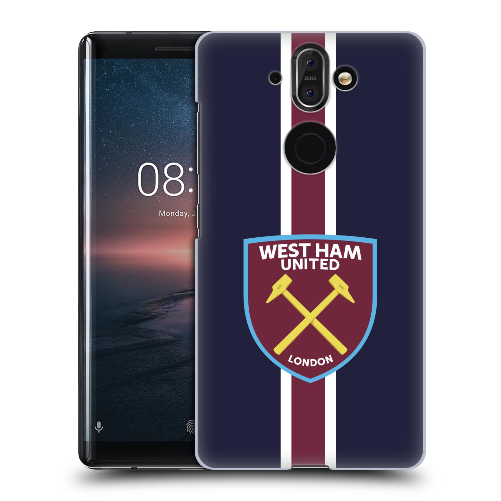 Plastové pouzdro na mobil Nokia 8 Sirocco - Head Case - West Ham United - Pruhy