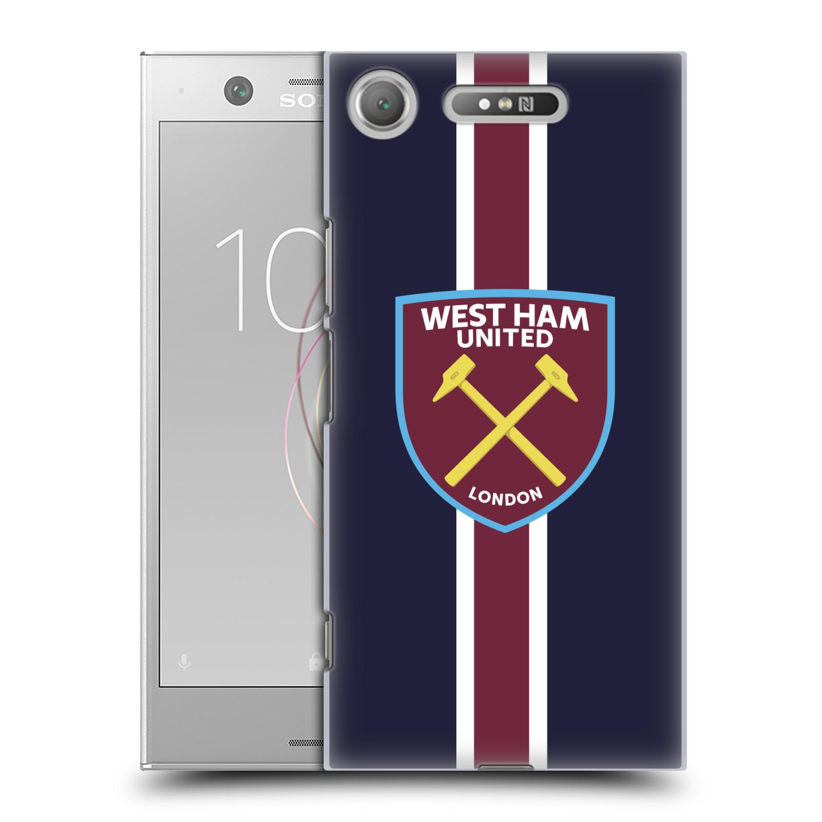 Plastové pouzdro na mobil Sony Xperia XZ1 - Head Case - West Ham United - Pruhy