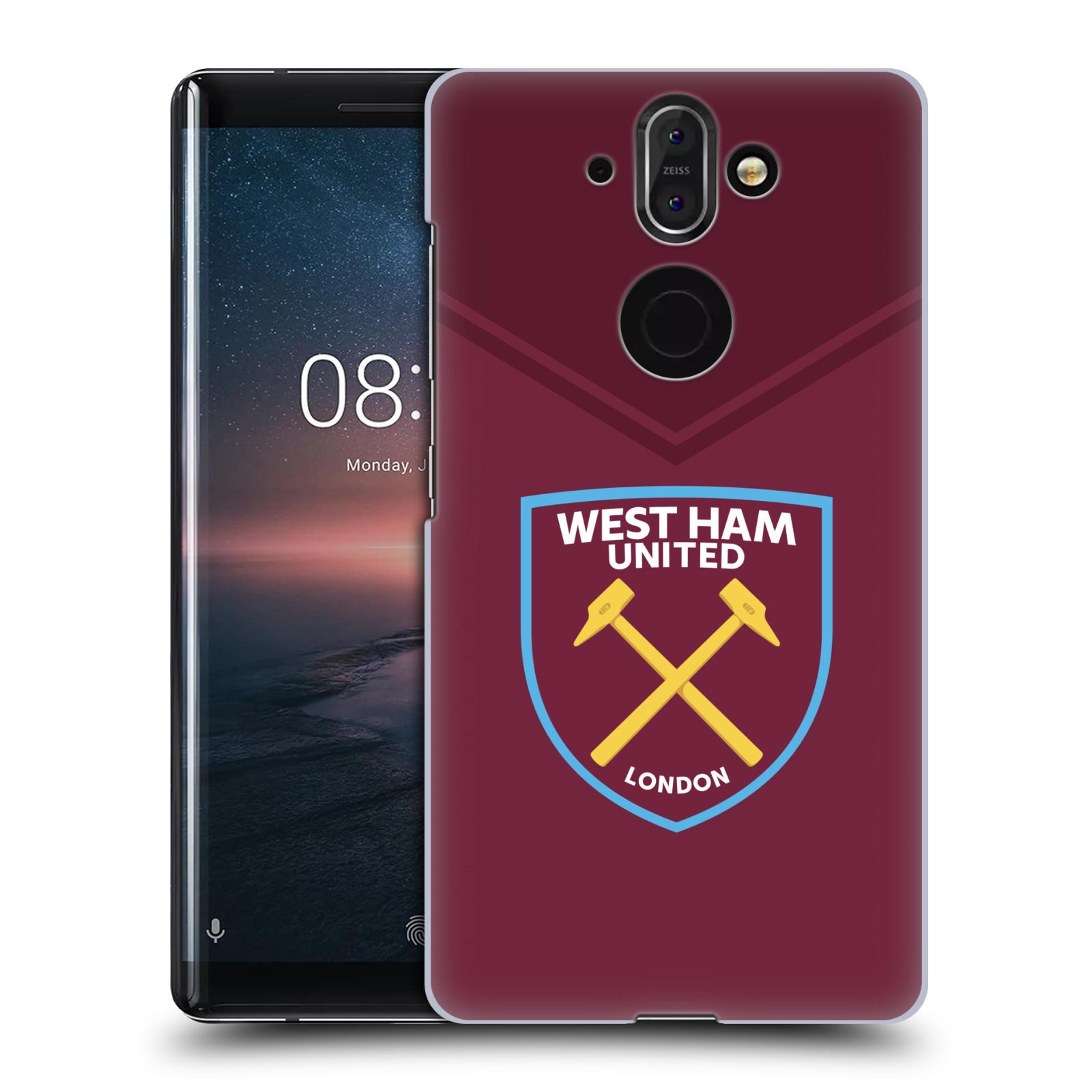 Plastové pouzdro na mobil Nokia 8 Sirocco - Head Case - West Ham United - Logo
