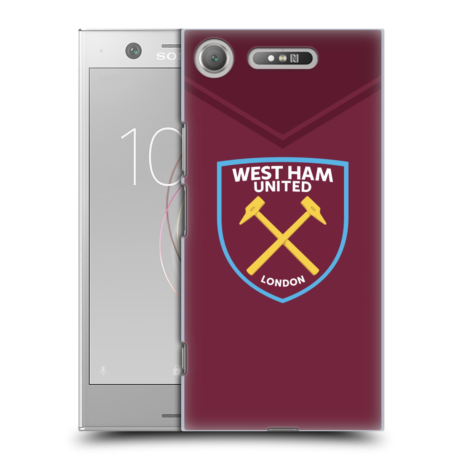 Plastové pouzdro na mobil Sony Xperia XZ1 - Head Case - West Ham United - Logo