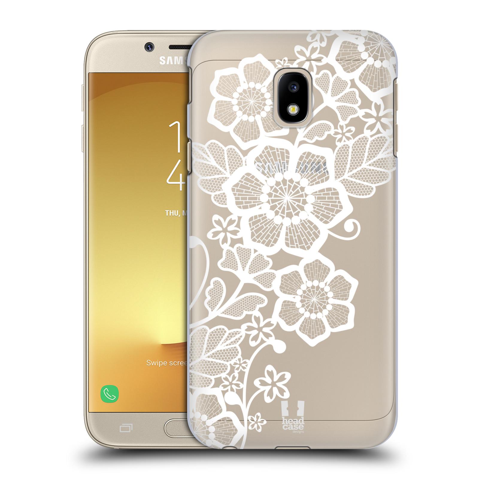 Plastové pouzdro na mobil Samsung Galaxy J3 (2017) - Head Case - Bílé krajkové květy