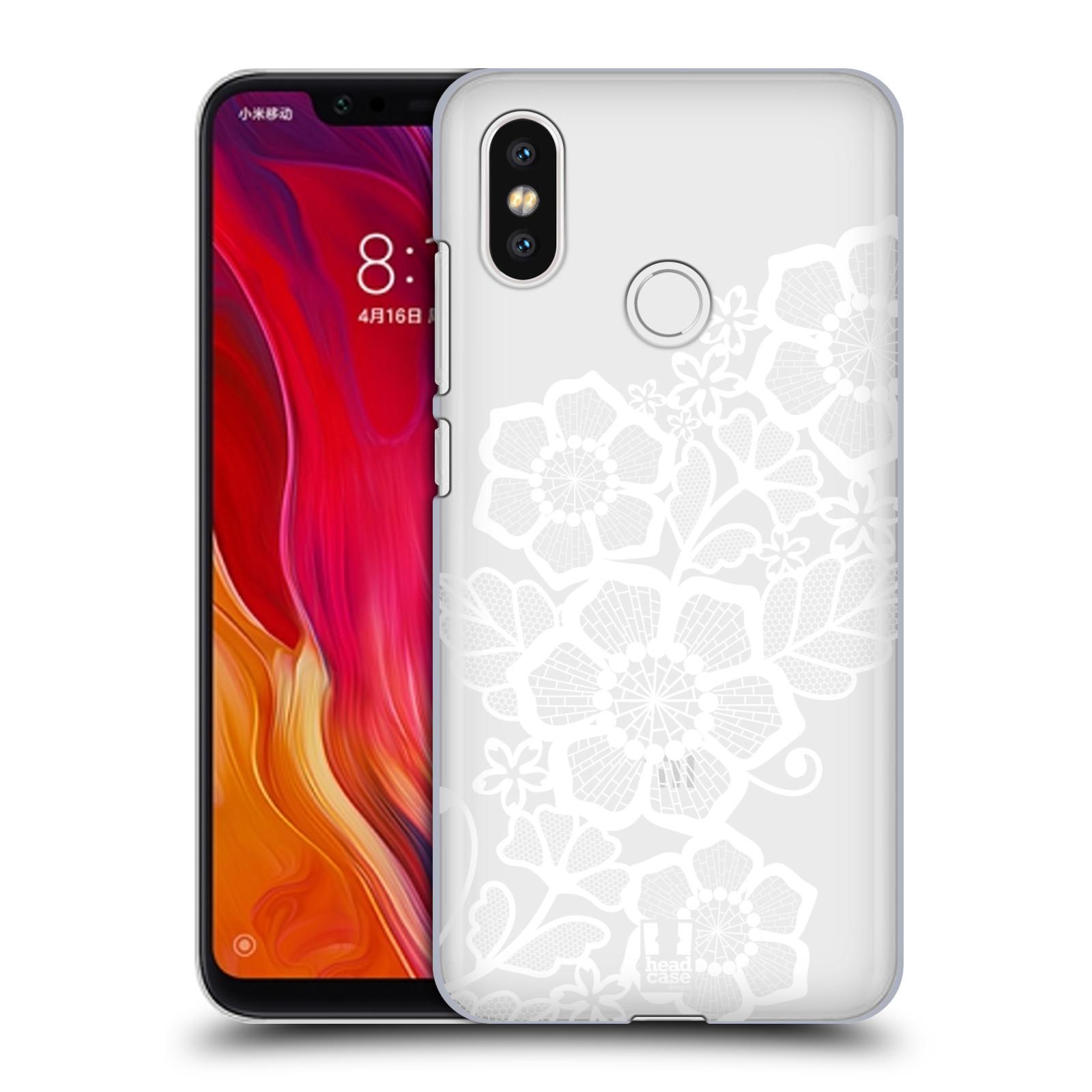 Plastové pouzdro na mobil Xiaomi Mi8 - Head Case - Bílé krajkové květy