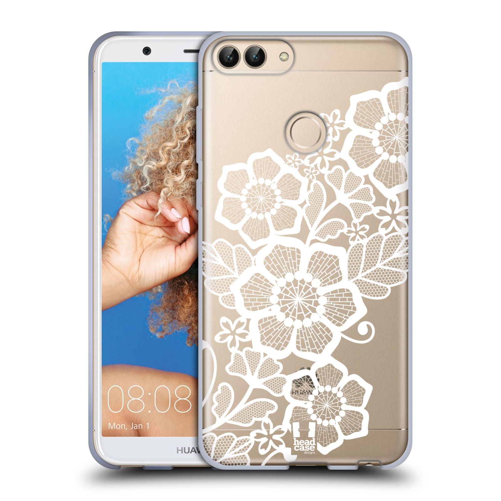Silikonové pouzdro na mobil Huawei P Smart - Head Case - Bílé krajkové květy