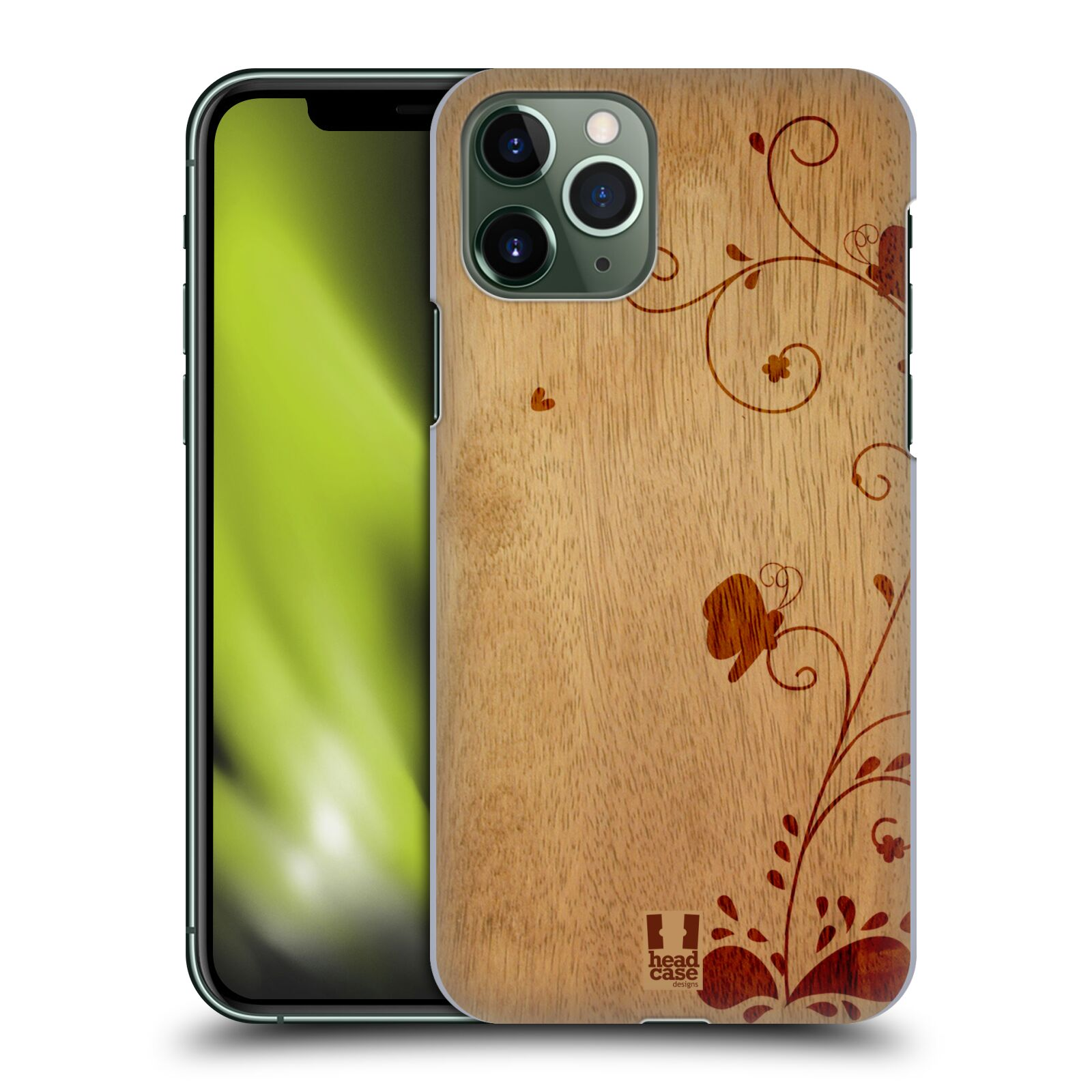 gucci iphone 8 plus folio , Plastové pouzdro na mobil Apple iPhone 11 Pro - Head Case - WOODART SWIRL