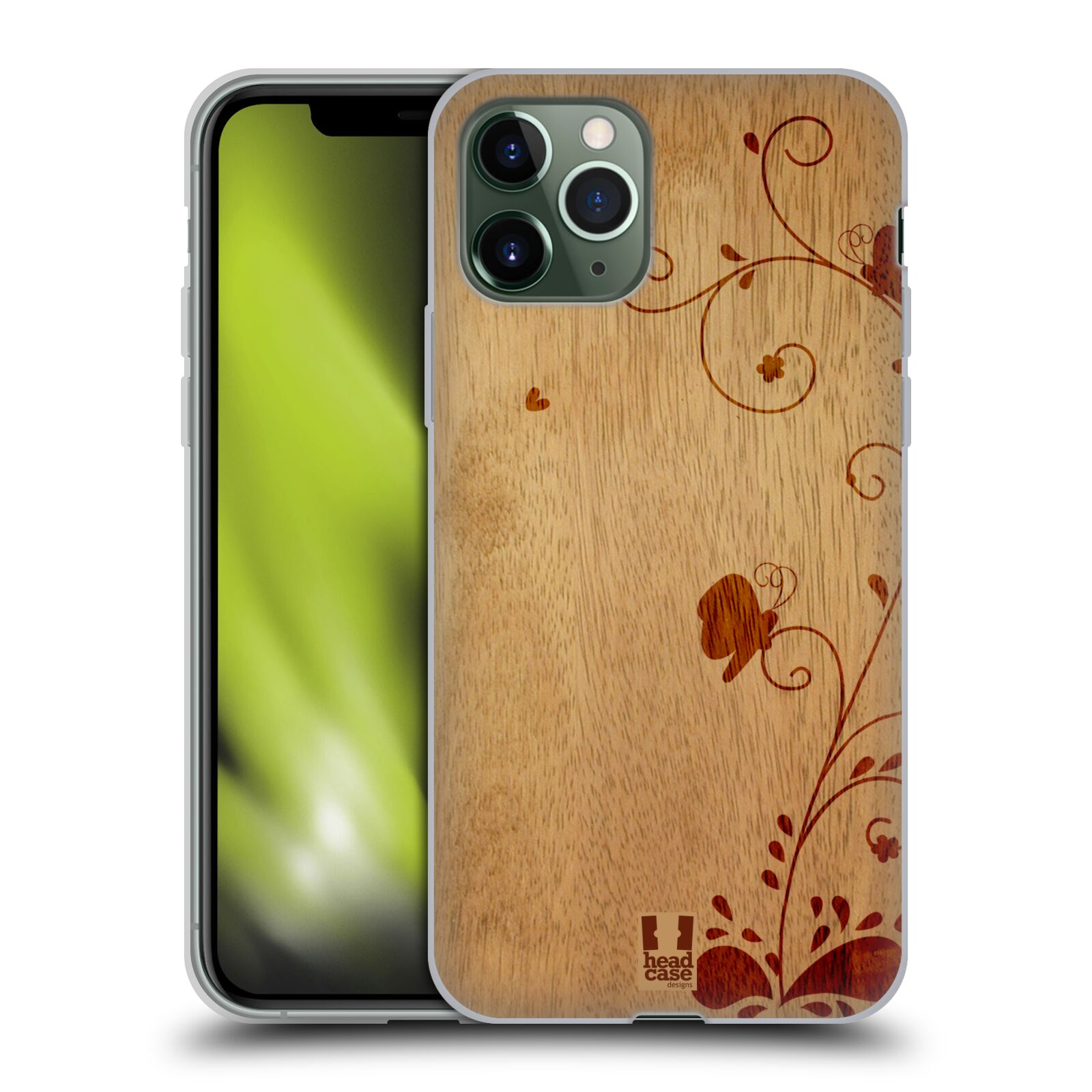 iphone 8 plus obal | Silikonové pouzdro na mobil Apple iPhone 11 Pro - Head Case - WOODART SWIRL