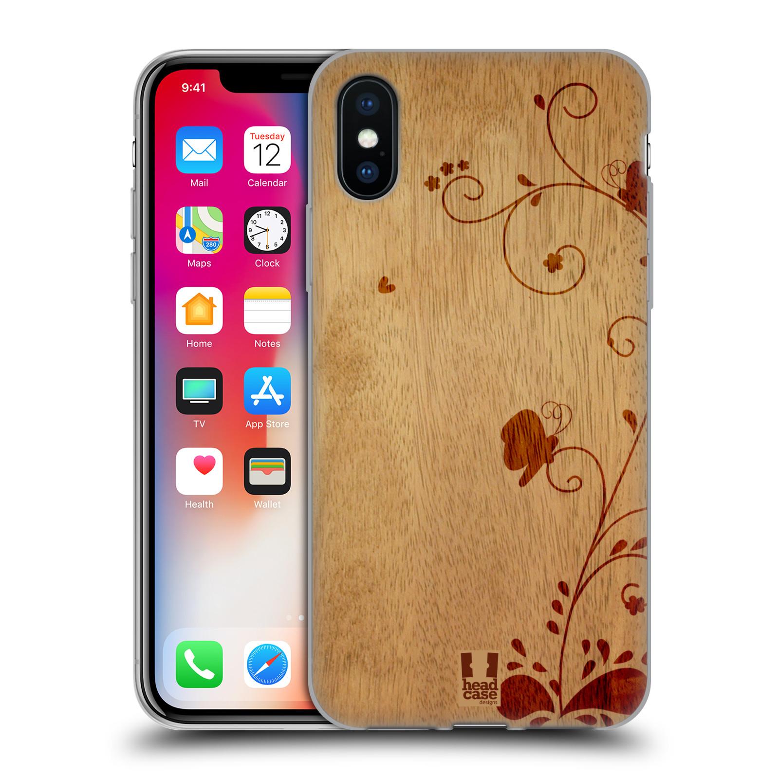 Silikonové pouzdro na mobil Apple iPhone XS - Head Case - WOODART SWIRL