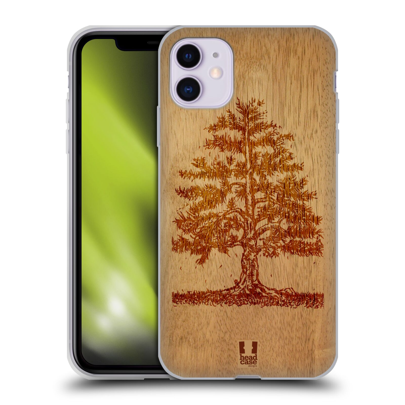 Silikonové pouzdro na mobil Apple iPhone 11 - Head Case - WOODART TREE