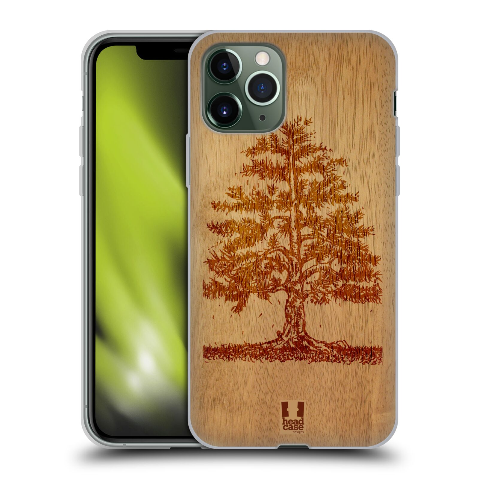 kryt na iphone 8 bazos , Silikonové pouzdro na mobil Apple iPhone 11 Pro - Head Case - WOODART TREE