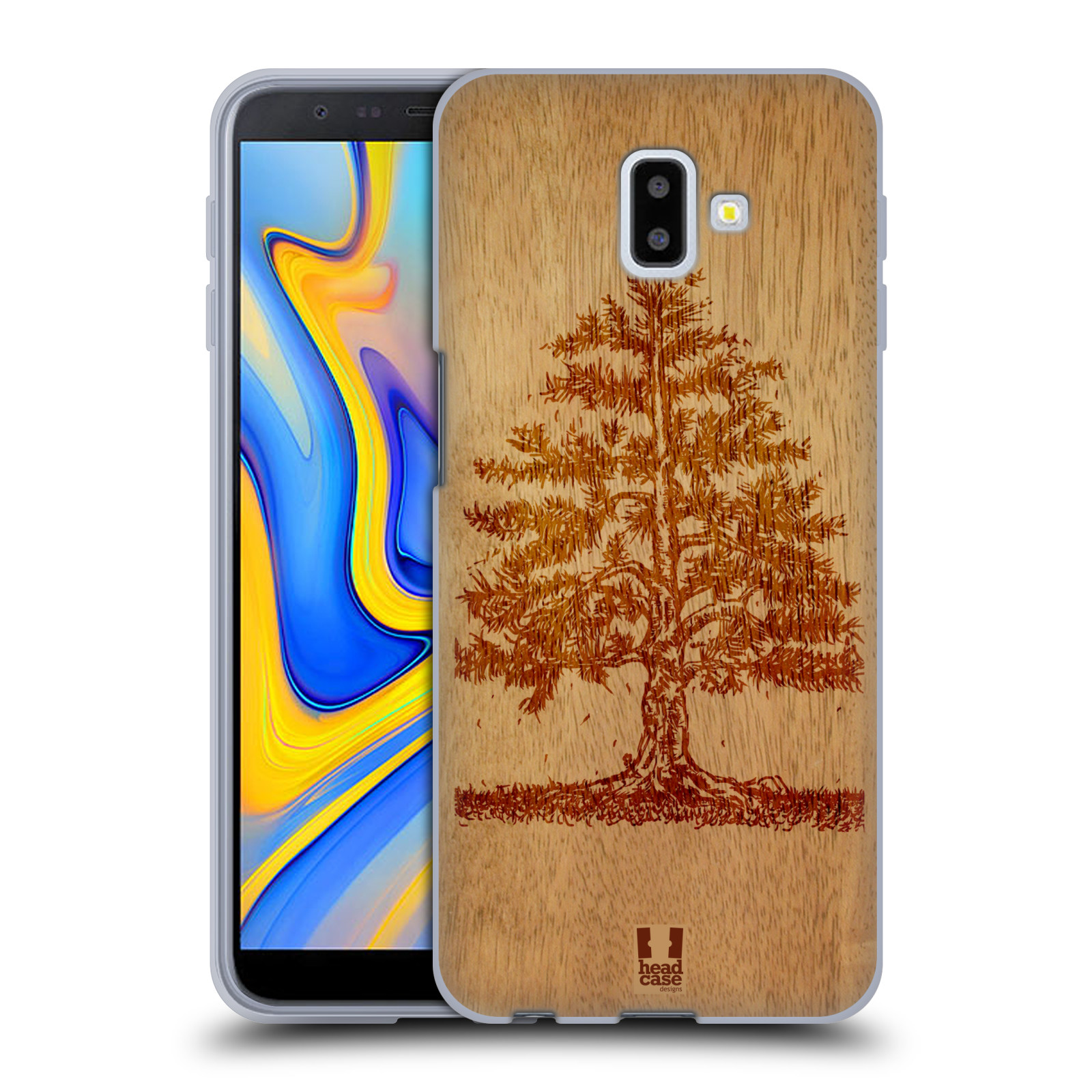Silikonové pouzdro na mobil Samsung Galaxy J6 Plus - Head Case - WOODART TREE
