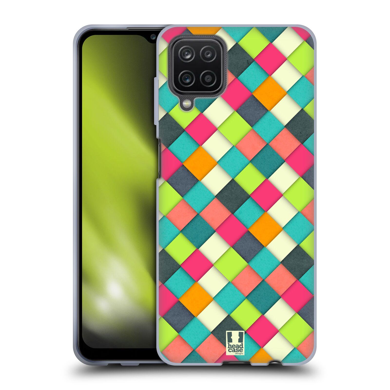 Silikonové pouzdro na mobil Samsung Galaxy A12 - Head Case - WOVEN