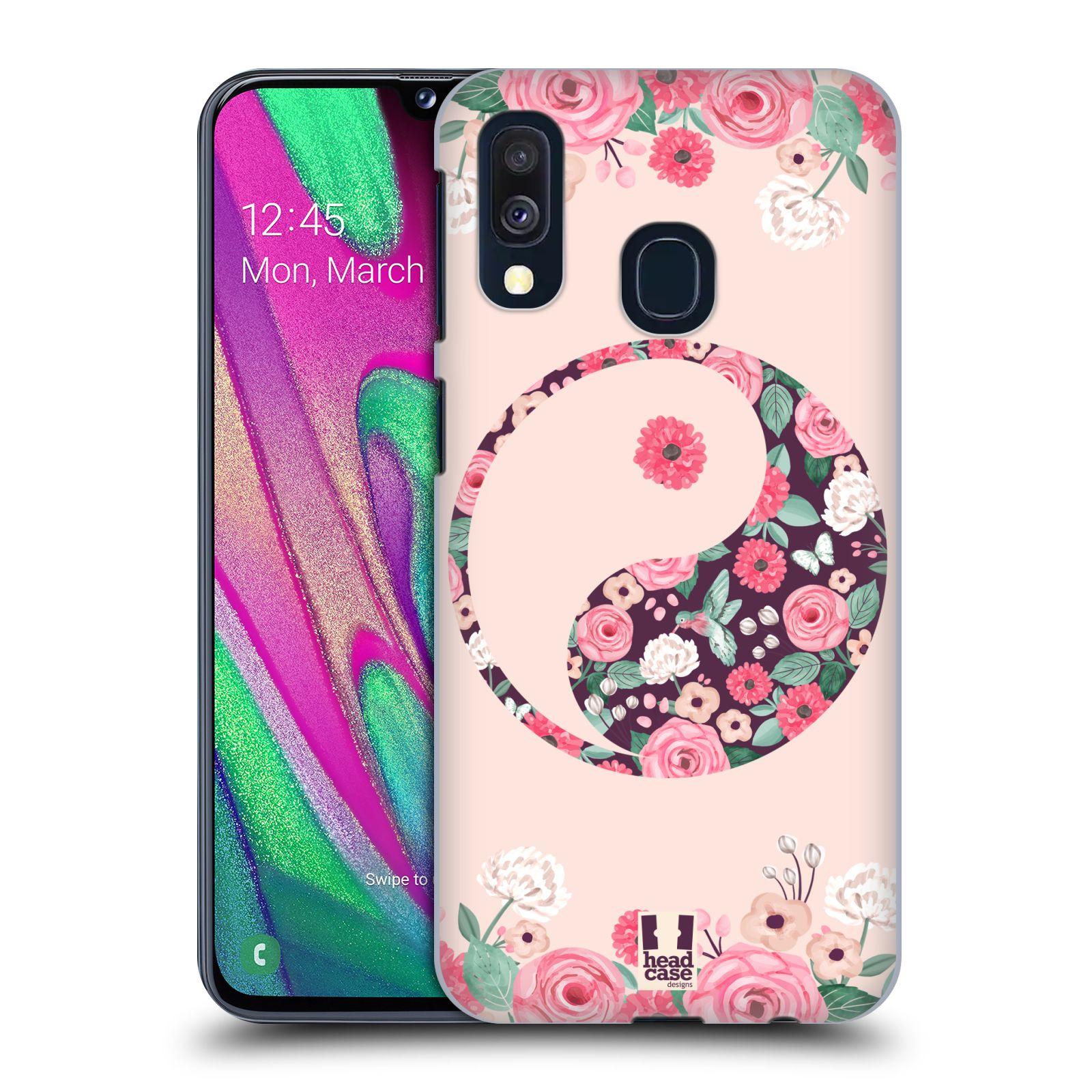 Plastové pouzdro na mobil Samsung Galaxy A40 - Head Case - Yin a Yang Floral