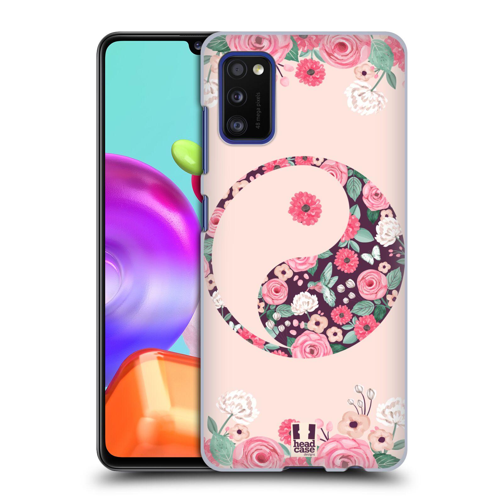 Plastové pouzdro na mobil Samsung Galaxy A41 - Head Case - Yin a Yang Floral