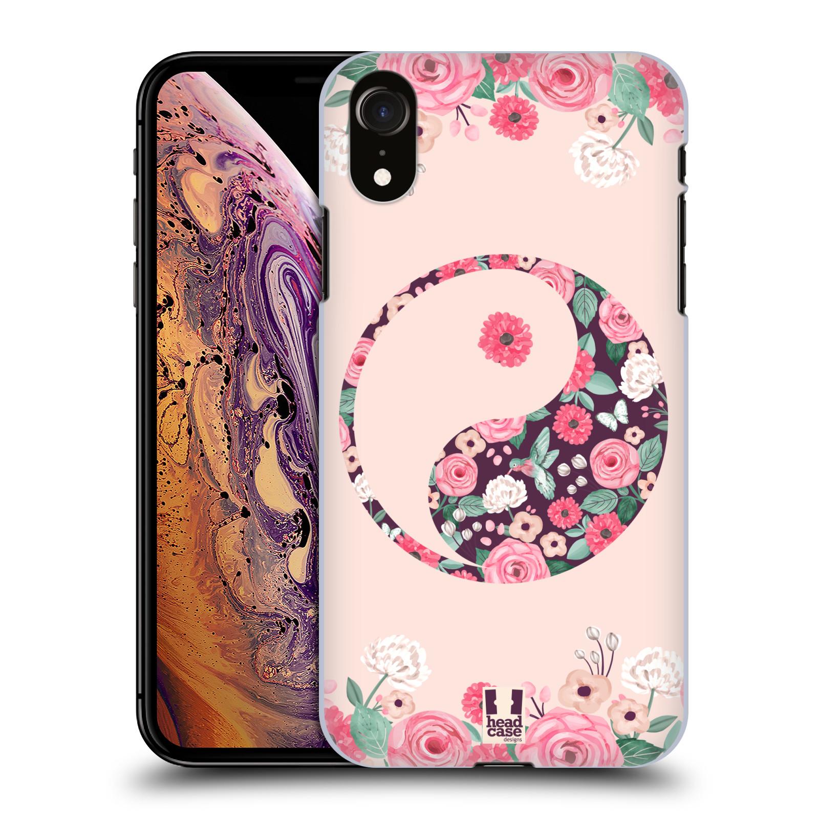 Plastové pouzdro na mobil Apple iPhone XR - Head Case - Yin a Yang Floral