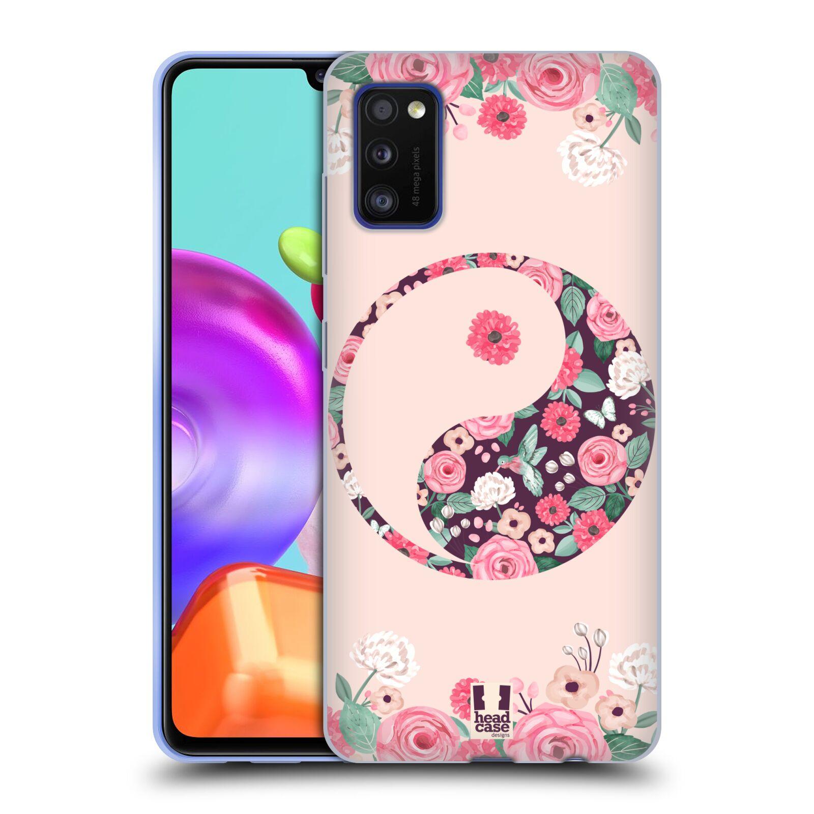 Silikonové pouzdro na mobil Samsung Galaxy A41 - Head Case - Yin a Yang Floral