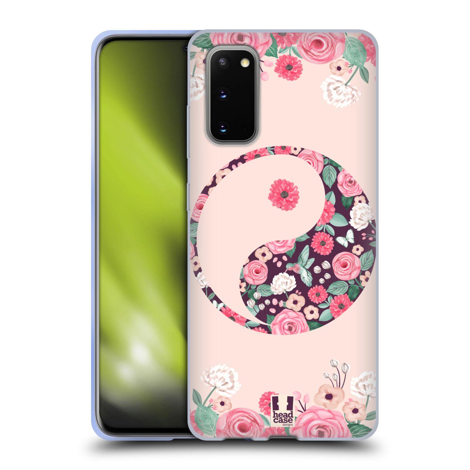 Silikonové pouzdro na mobil Samsung Galaxy S20 - Head Case - Yin a Yang Floral