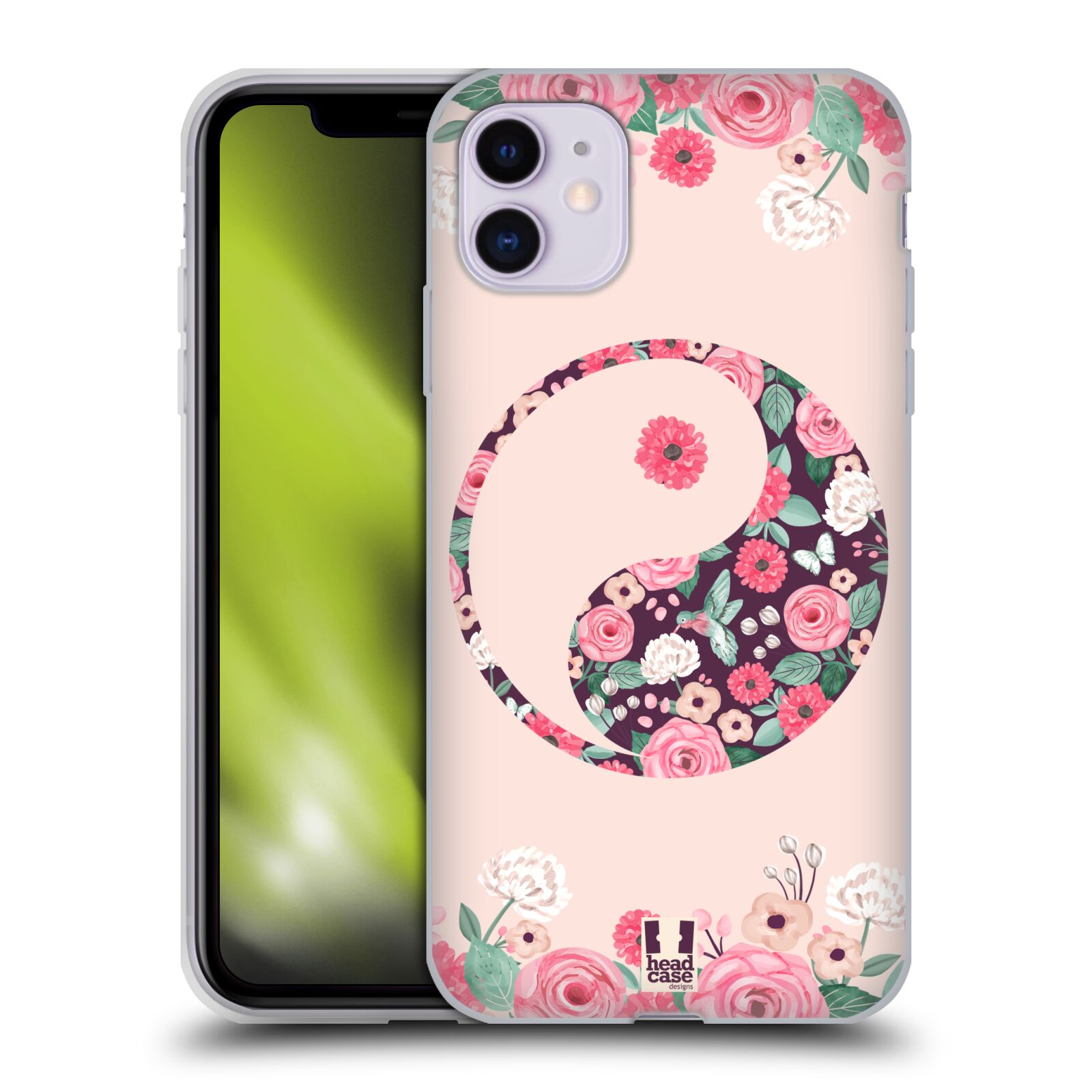 Silikonové pouzdro na mobil Apple iPhone 11 - Head Case - Yin a Yang Floral