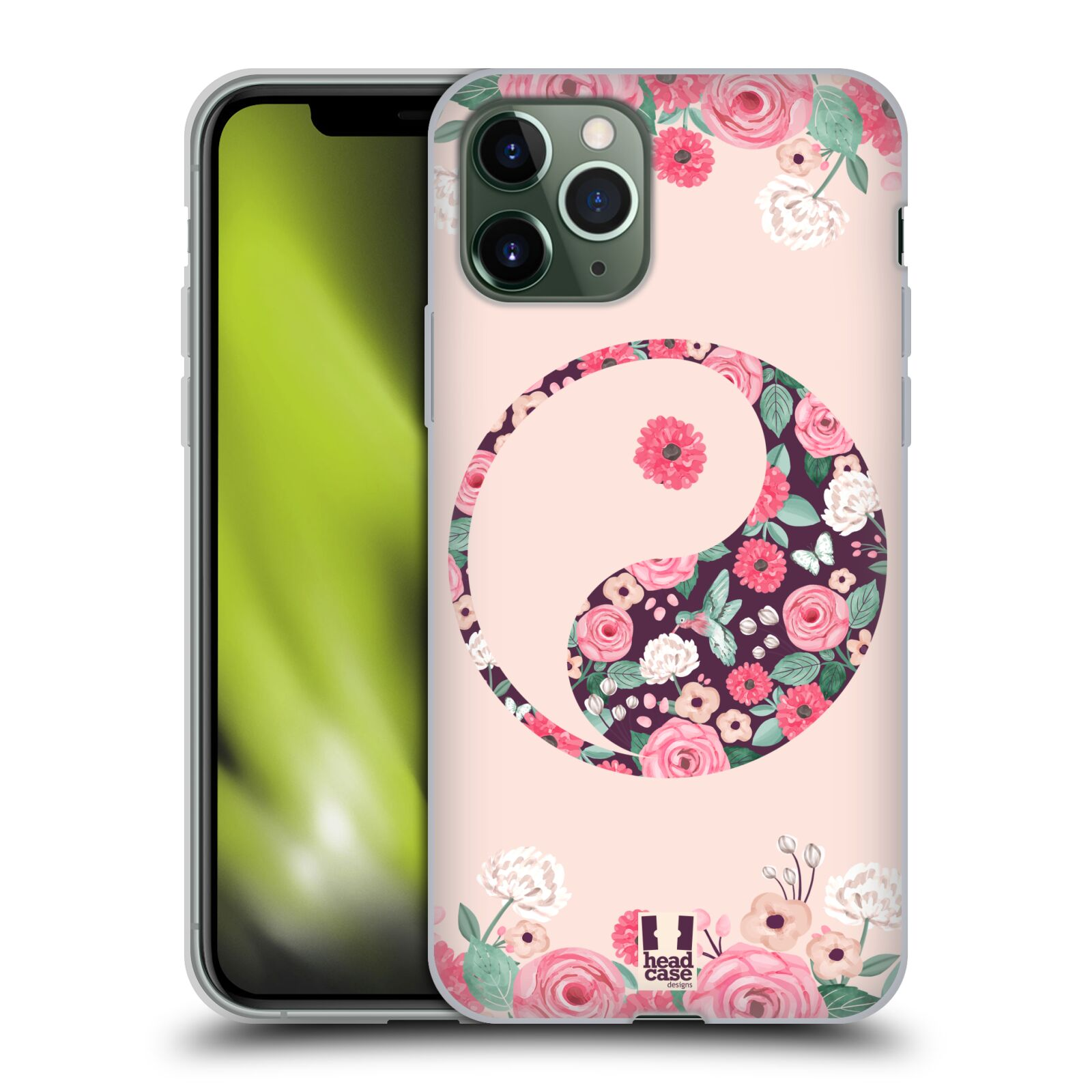 original kryt na iphone 8 plus , Silikonové pouzdro na mobil Apple iPhone 11 Pro - Head Case - Yin a Yang Floral