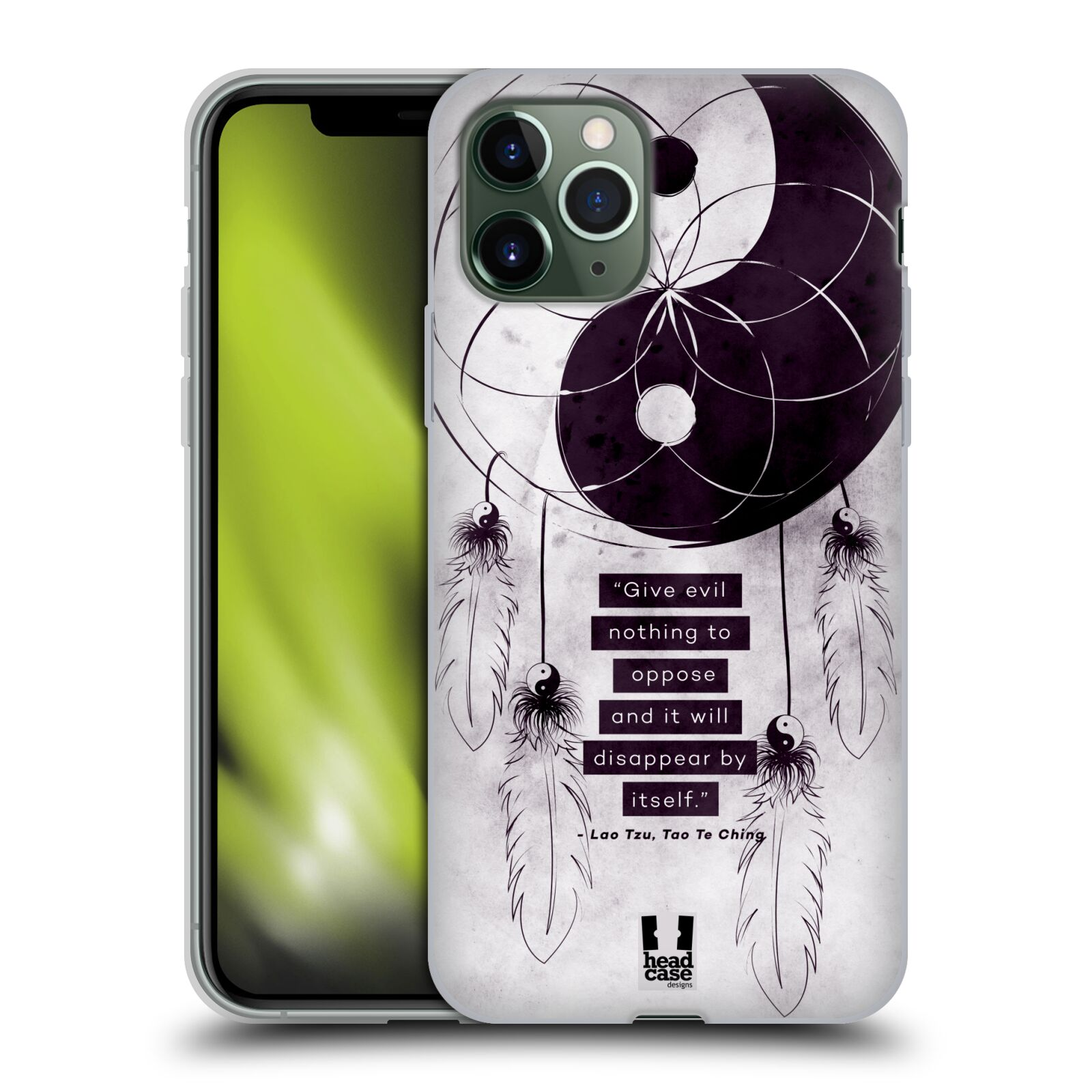 iphone x obal guess | Silikonové pouzdro na mobil Apple iPhone 11 Pro - Head Case - YIn a Yang CATCHER