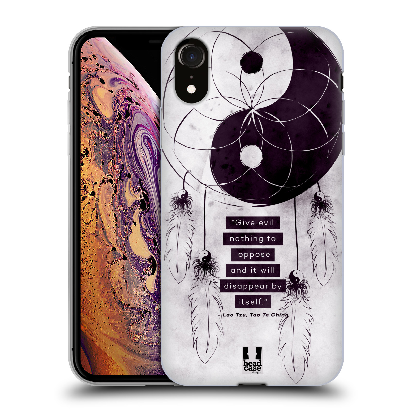 Silikonové pouzdro na mobil Apple iPhone XR - Head Case - YIn a Yang CATCHER