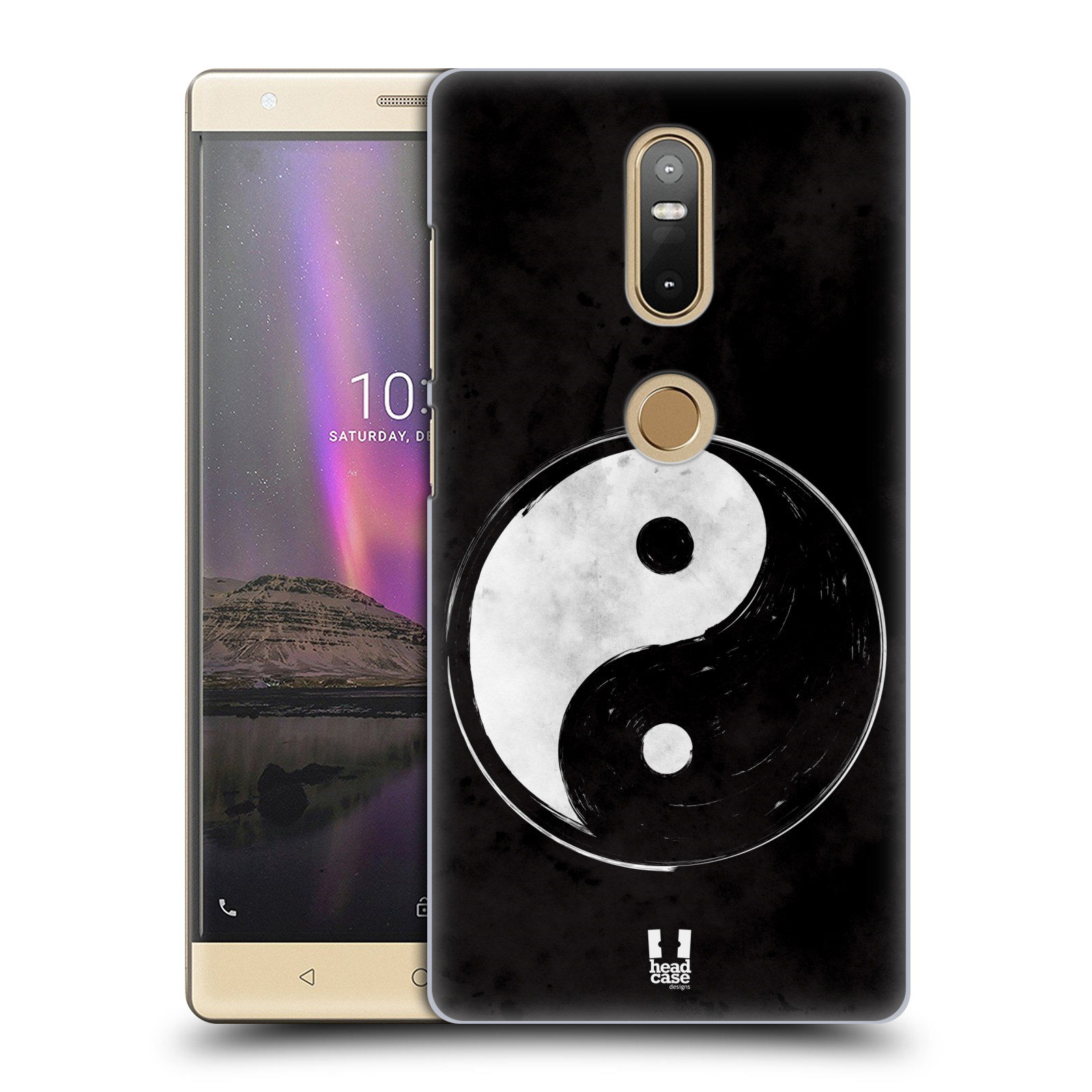 Plastové pouzdro na mobil Lenovo Phab 2 Plus - Head Case - Yin a Yang BW (Plastový kryt či obal na mobilní telefon Lenovo Phab 2 Plus Dual SIM s motivem Yin a Yang BW)
