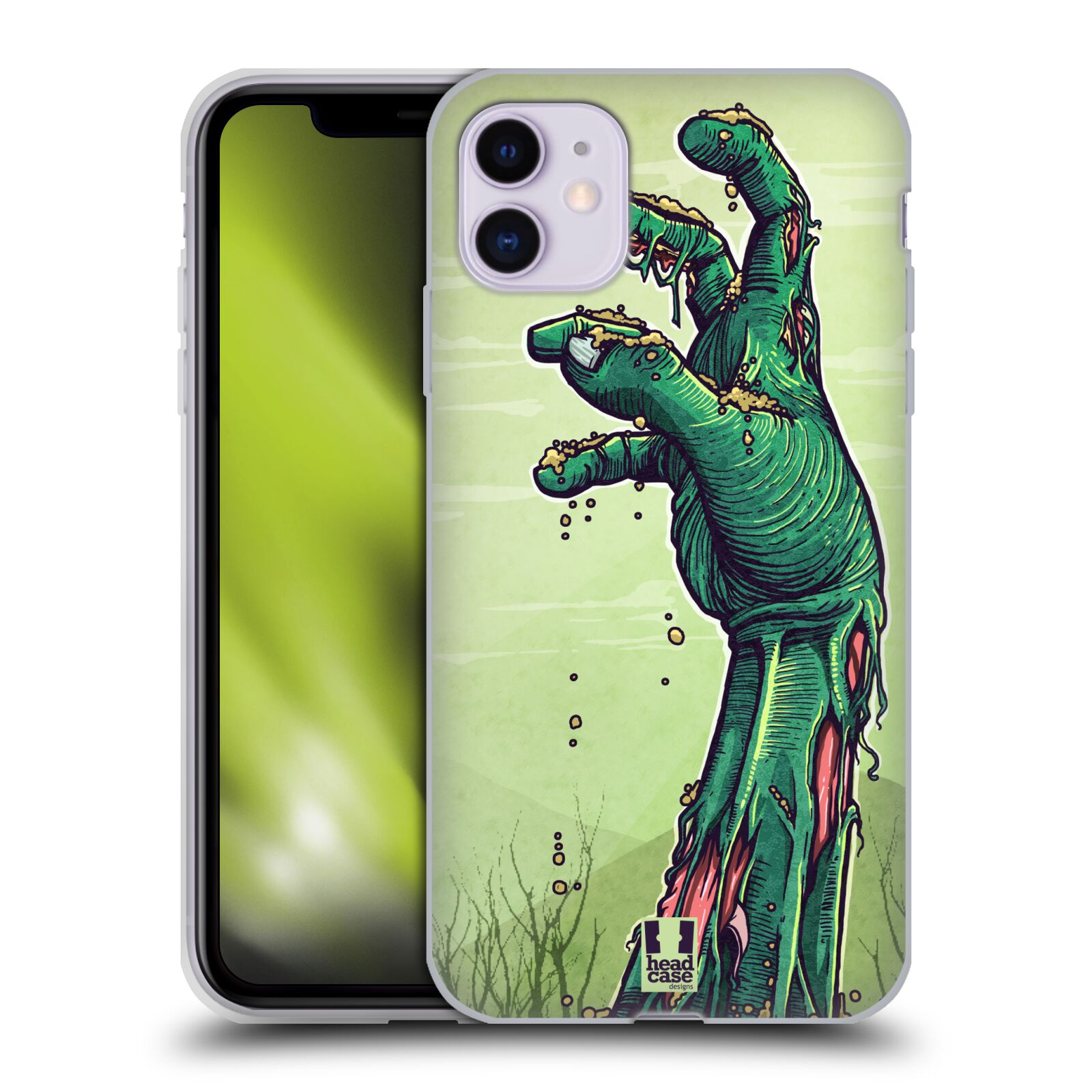 ebay krytu na iphone 8 plus - Silikonové pouzdro na mobil Apple iPhone 11 - Head Case - ZOMBIE RUKA