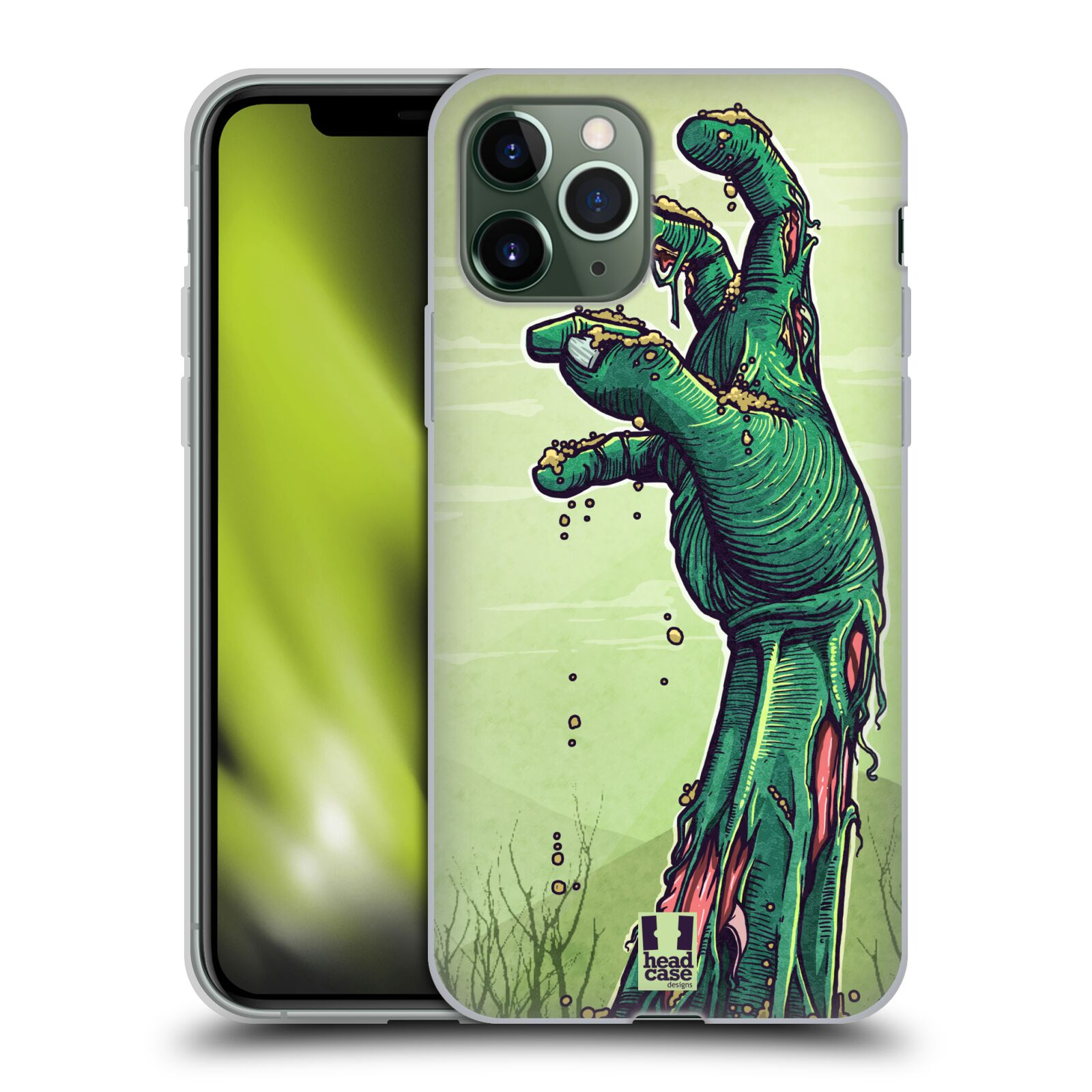 apple iphone x kryt | Silikonové pouzdro na mobil Apple iPhone 11 Pro - Head Case - ZOMBIE RUKA