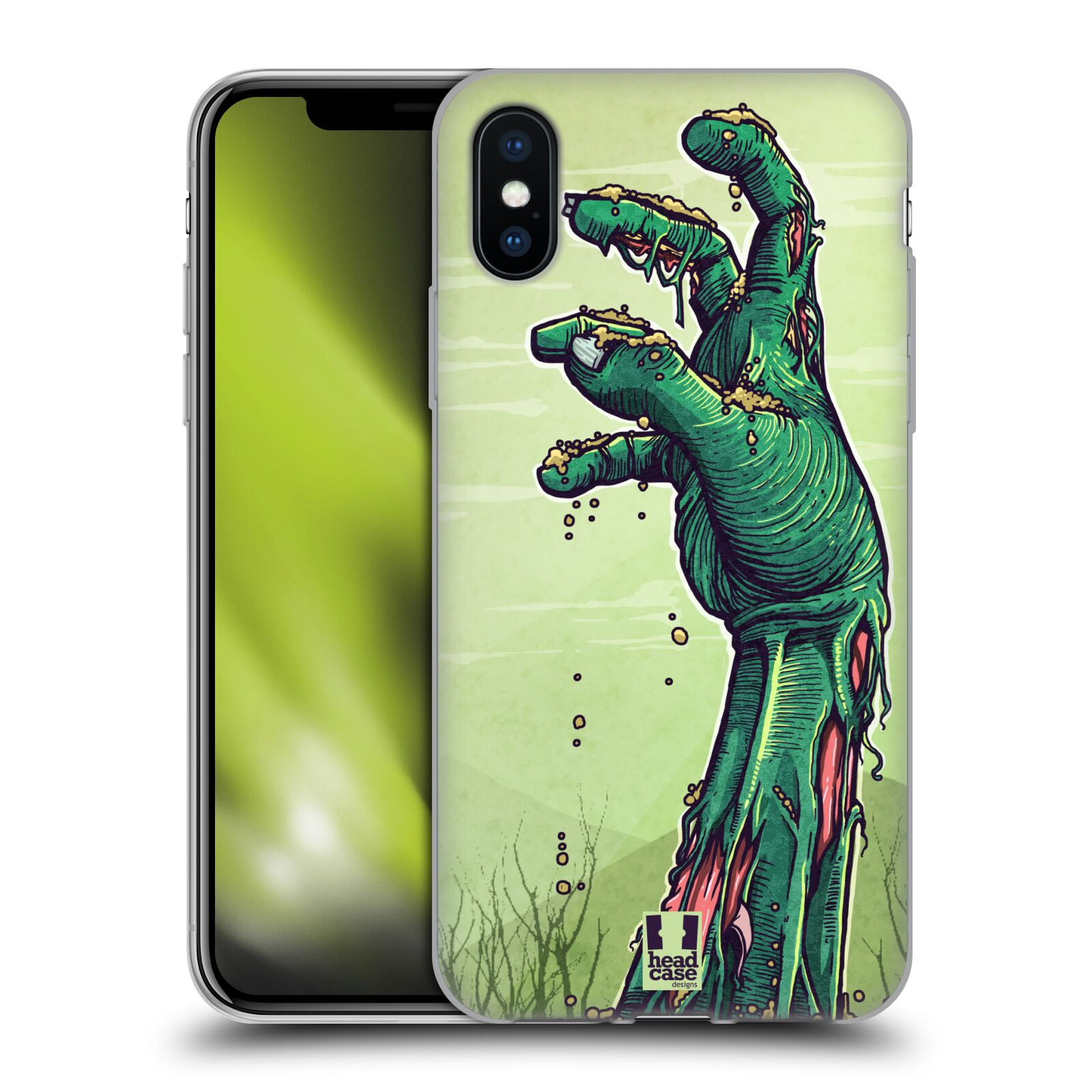 Silikonové pouzdro na mobil Apple iPhone XS - Head Case - ZOMBIE RUKA