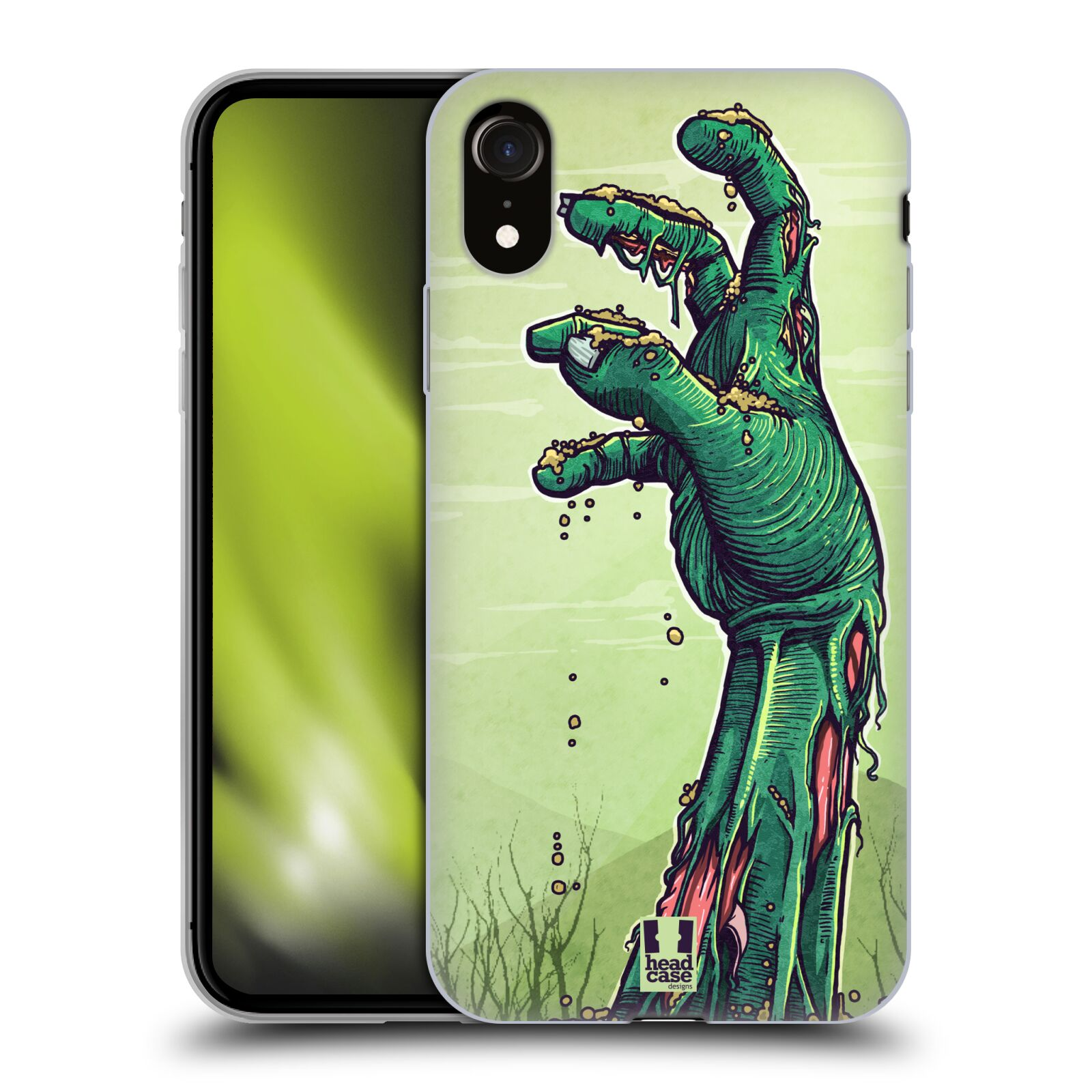 Silikonové pouzdro na mobil Apple iPhone XR - Head Case - ZOMBIE RUKA