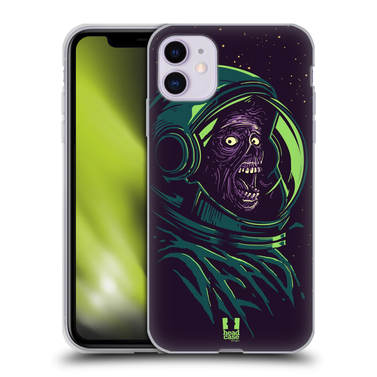 iphone se obal original - Silikonové pouzdro na mobil Apple iPhone 11 - Head Case - ZOMBIE VESMÍR