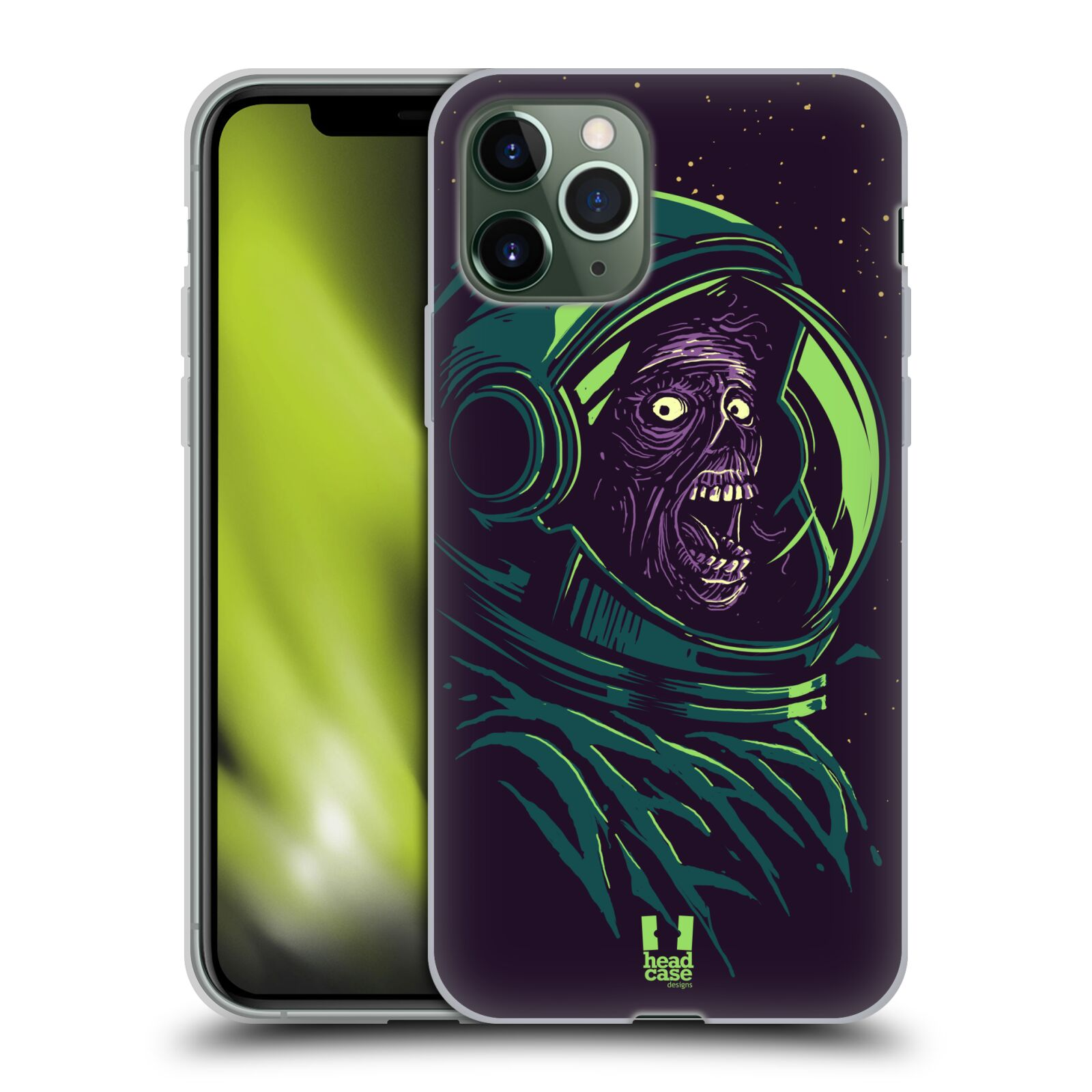obal apple iphone 7 plus | Silikonové pouzdro na mobil Apple iPhone 11 Pro - Head Case - ZOMBIE VESMÍR