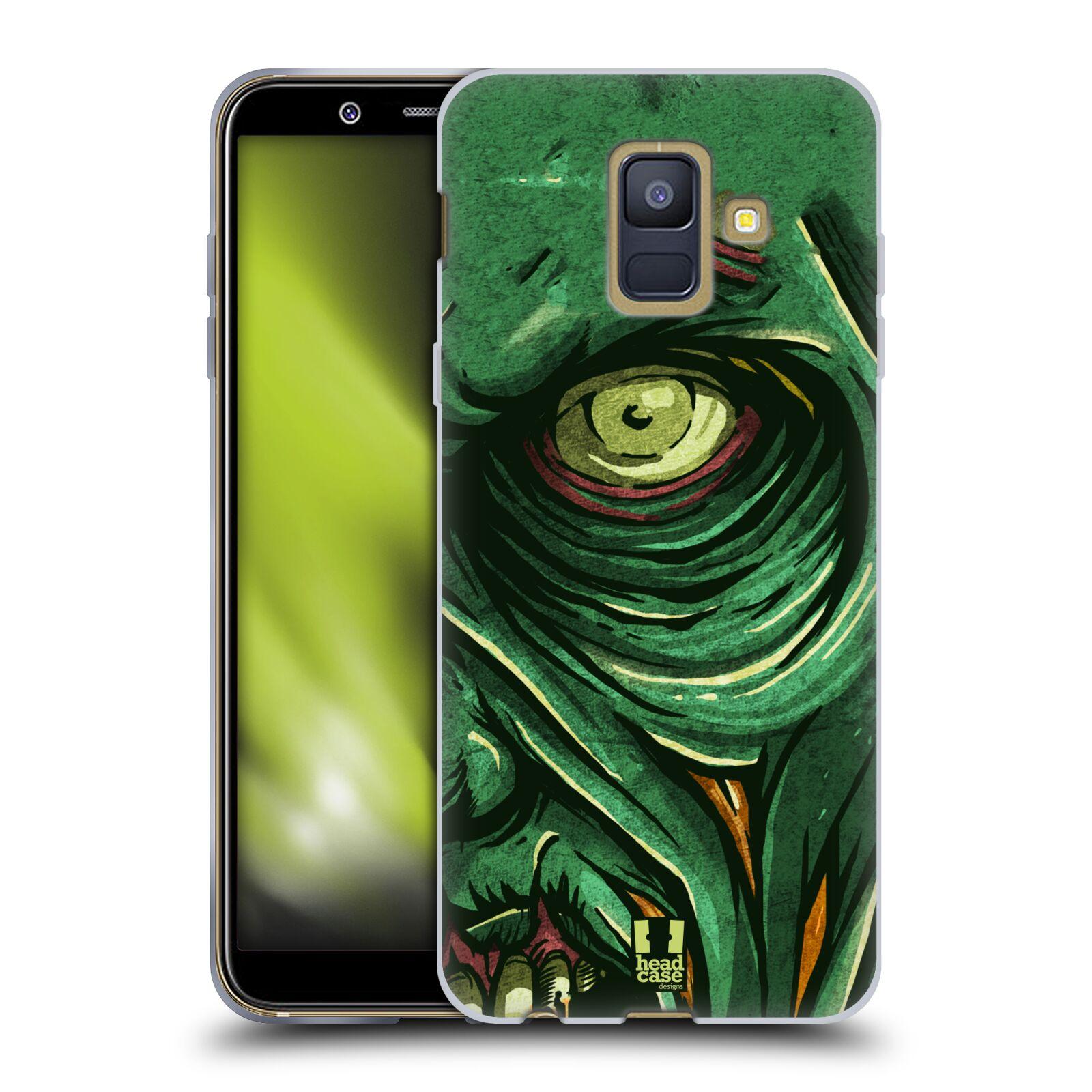 Silikonové pouzdro na mobil Samsung Galaxy A6 (2018) - Head Case - ZOMBIE TVÁŘ