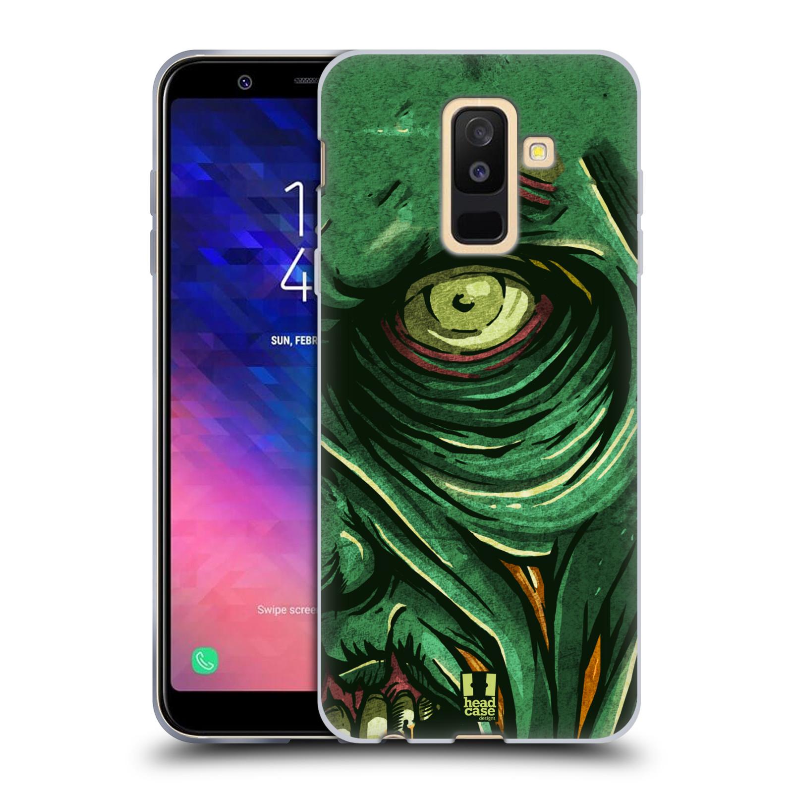 Silikonové pouzdro na mobil Samsung Galaxy A6 Plus (2018) - Head Case - ZOMBIE TVÁŘ