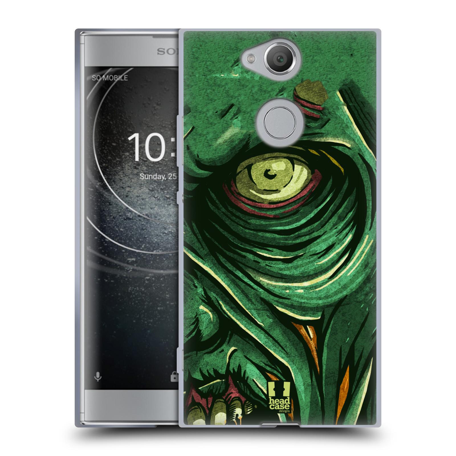 Silikonové pouzdro na mobil Sony Xperia XA2 - Head Case - ZOMBIE TVÁŘ