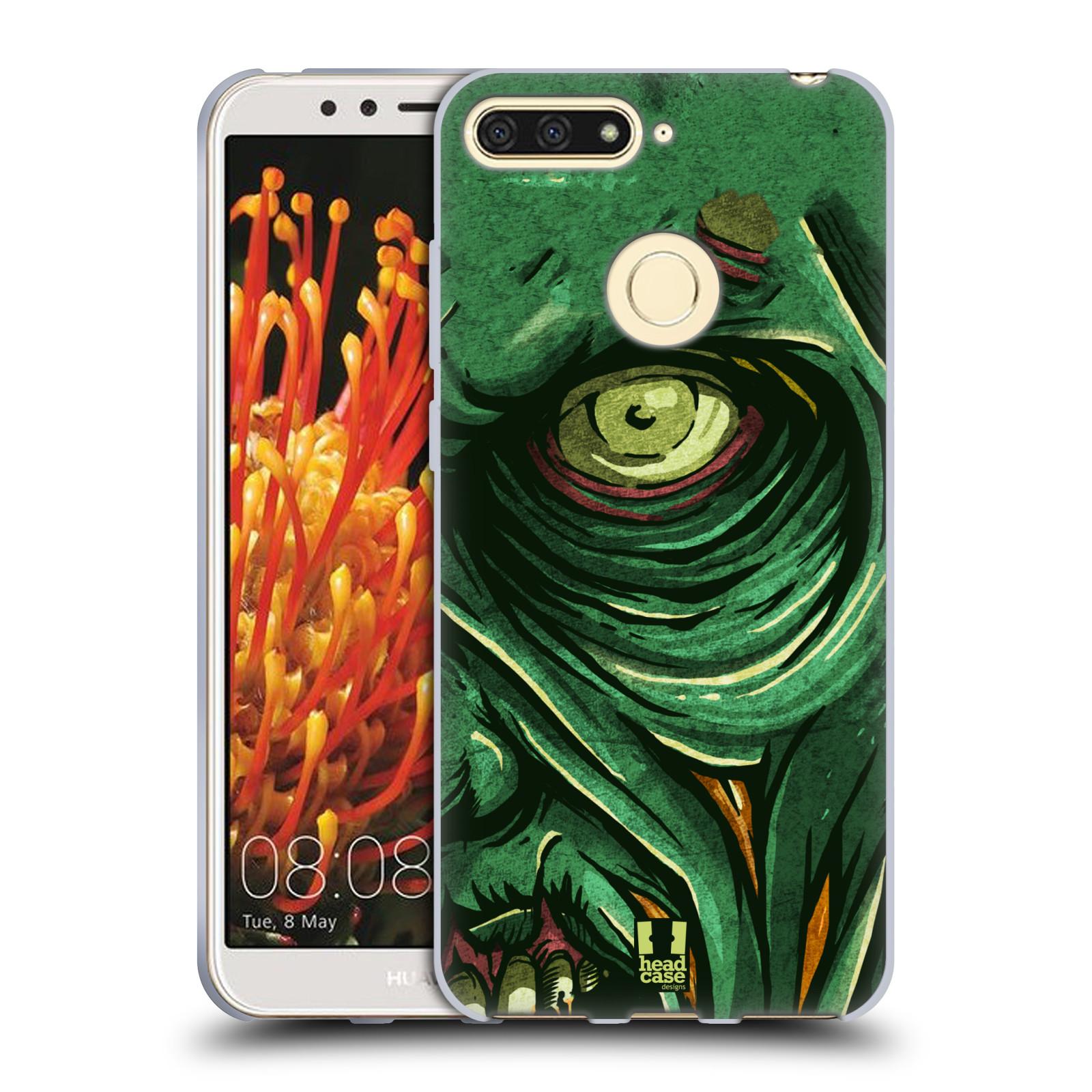 Silikonové pouzdro na mobil Huawei Y6 Prime (2018) - Head Case - ZOMBIE TVÁŘ