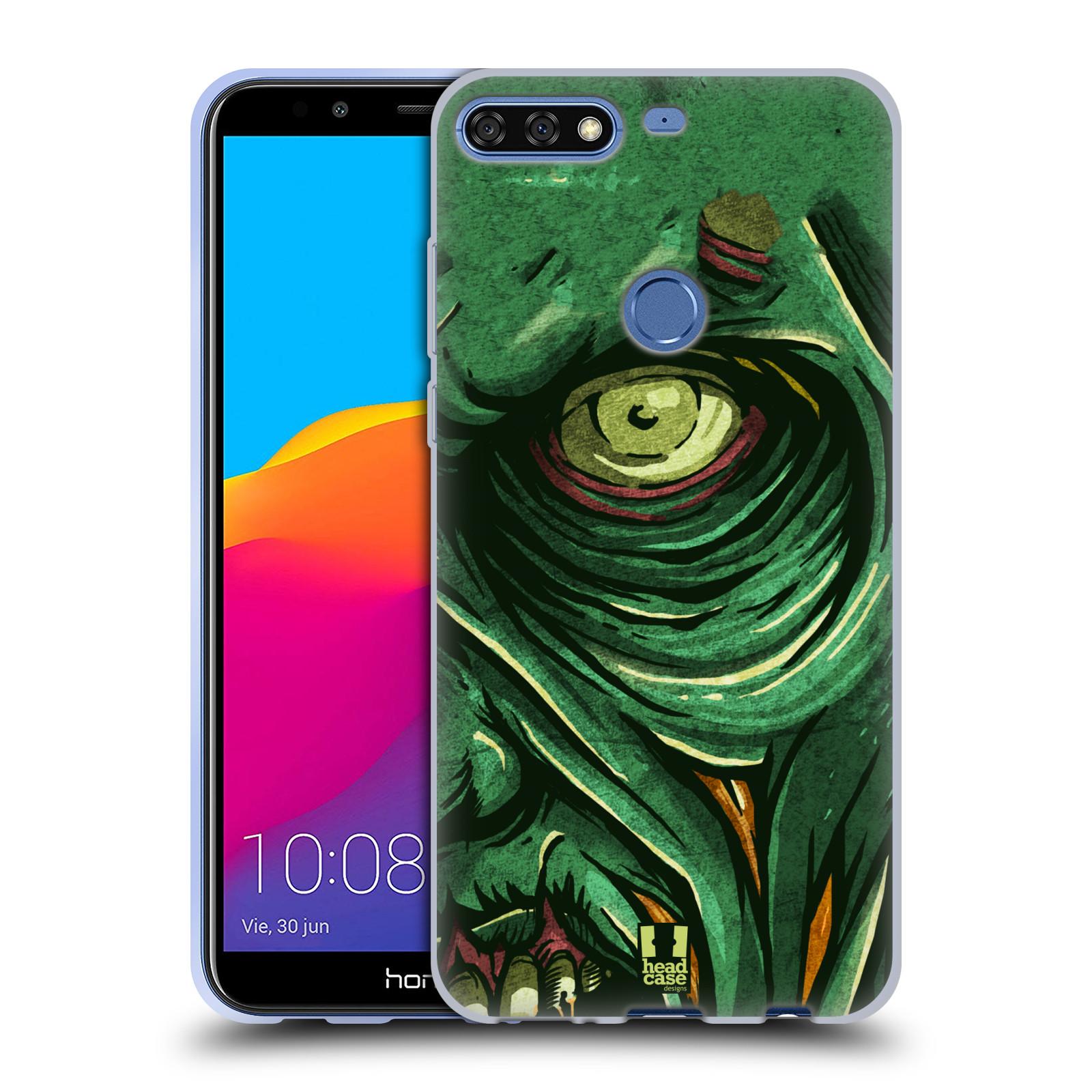 Silikonové pouzdro na mobil Huawei Y7 Prime (2018) - Head Case - ZOMBIE TVÁŘ