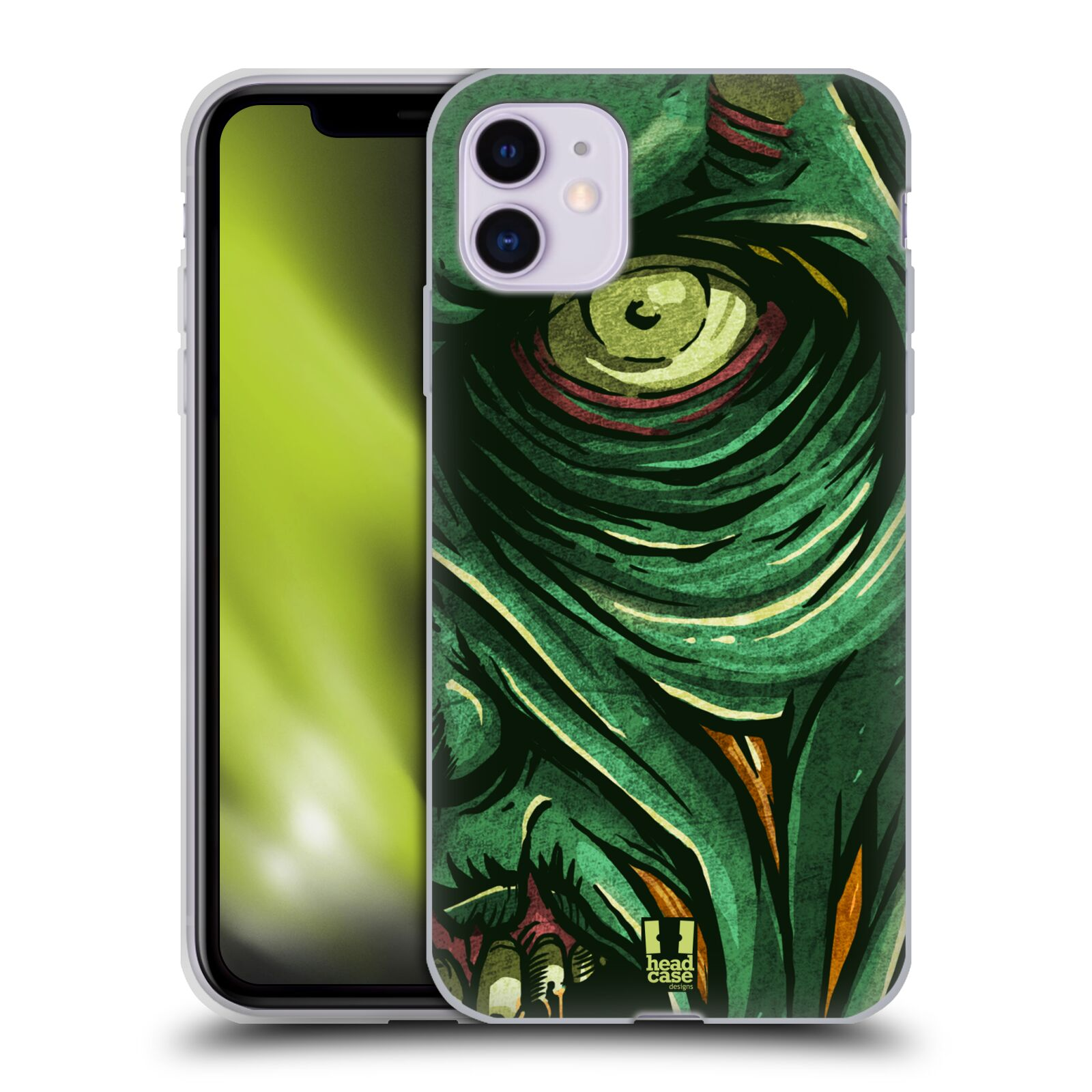 lagerfeld krytu na iphone x , Silikonové pouzdro na mobil Apple iPhone 11 - Head Case - ZOMBIE TVÁŘ